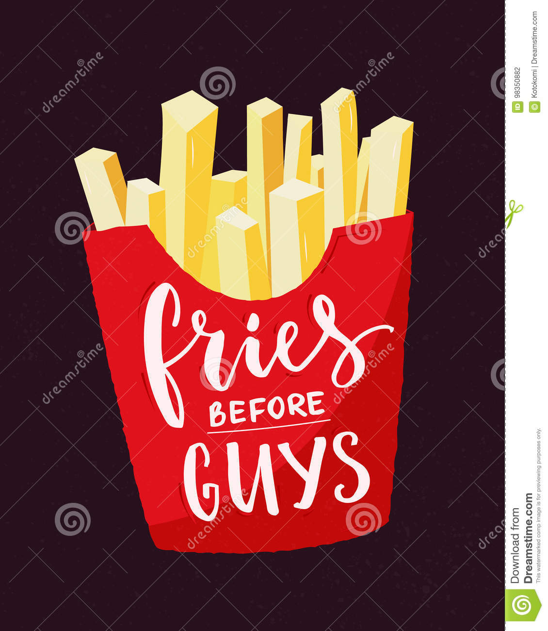 At T Stock Price Quote: Fries Cartoons, Illustrations & Vector Stock Images