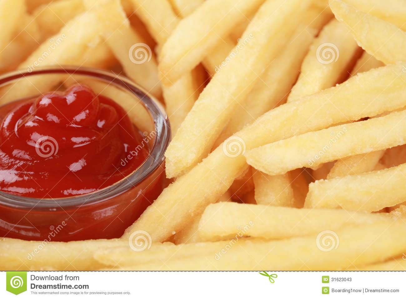 Fries And Ketchup Stock Photos - Image: 31623043