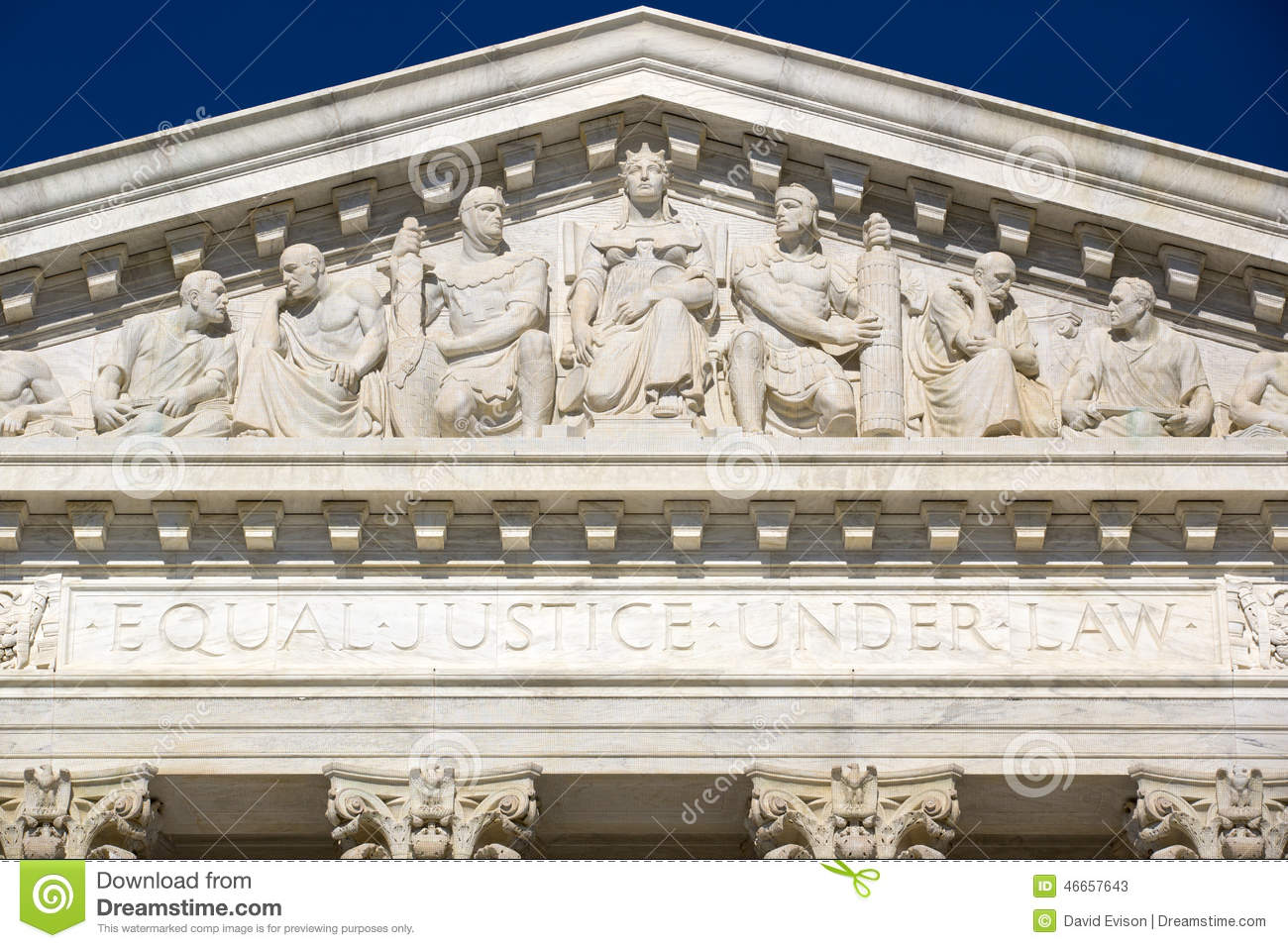 Frieze at the Supreme Court
