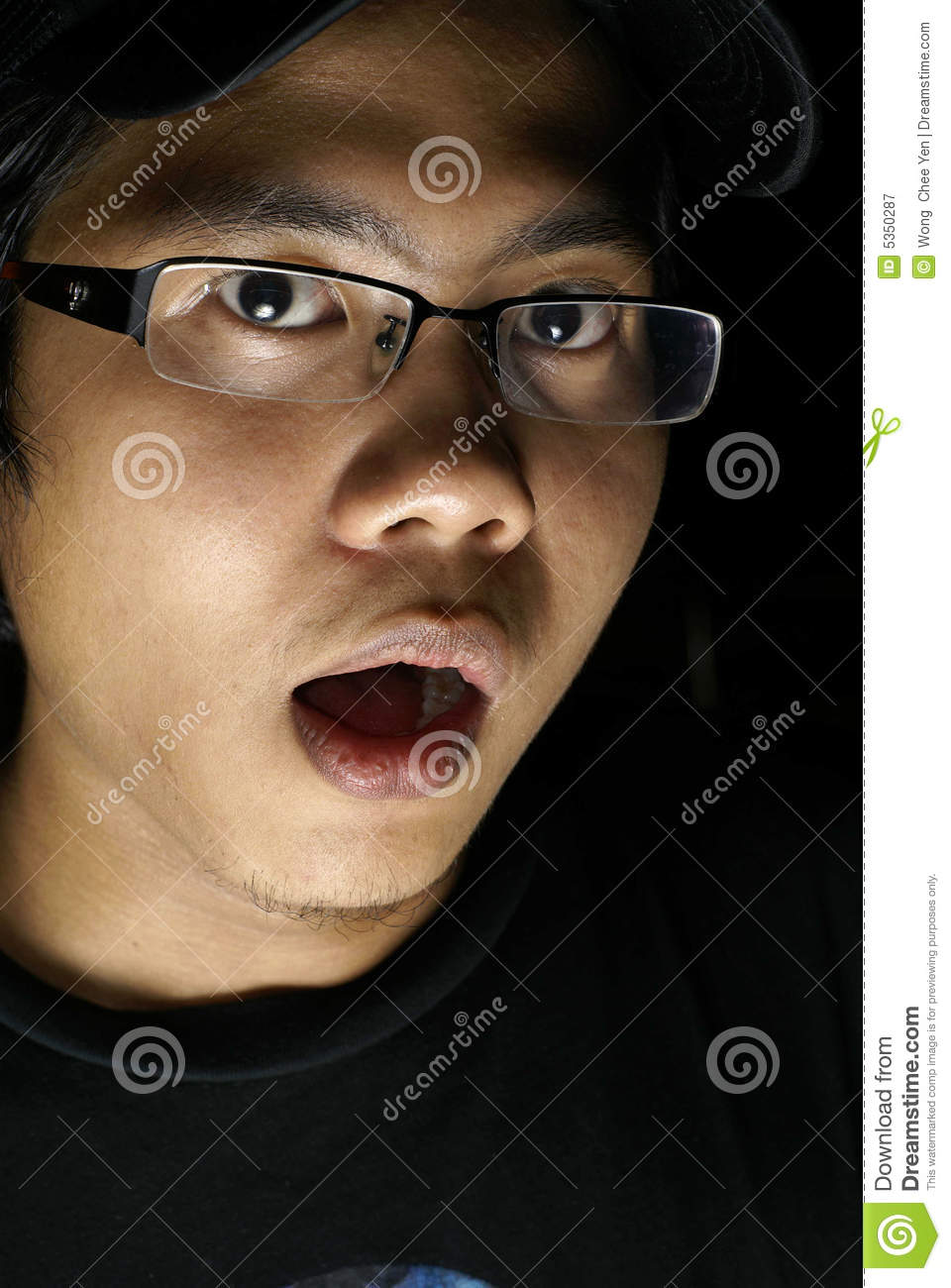 frightened asian man royalty free stock photography
