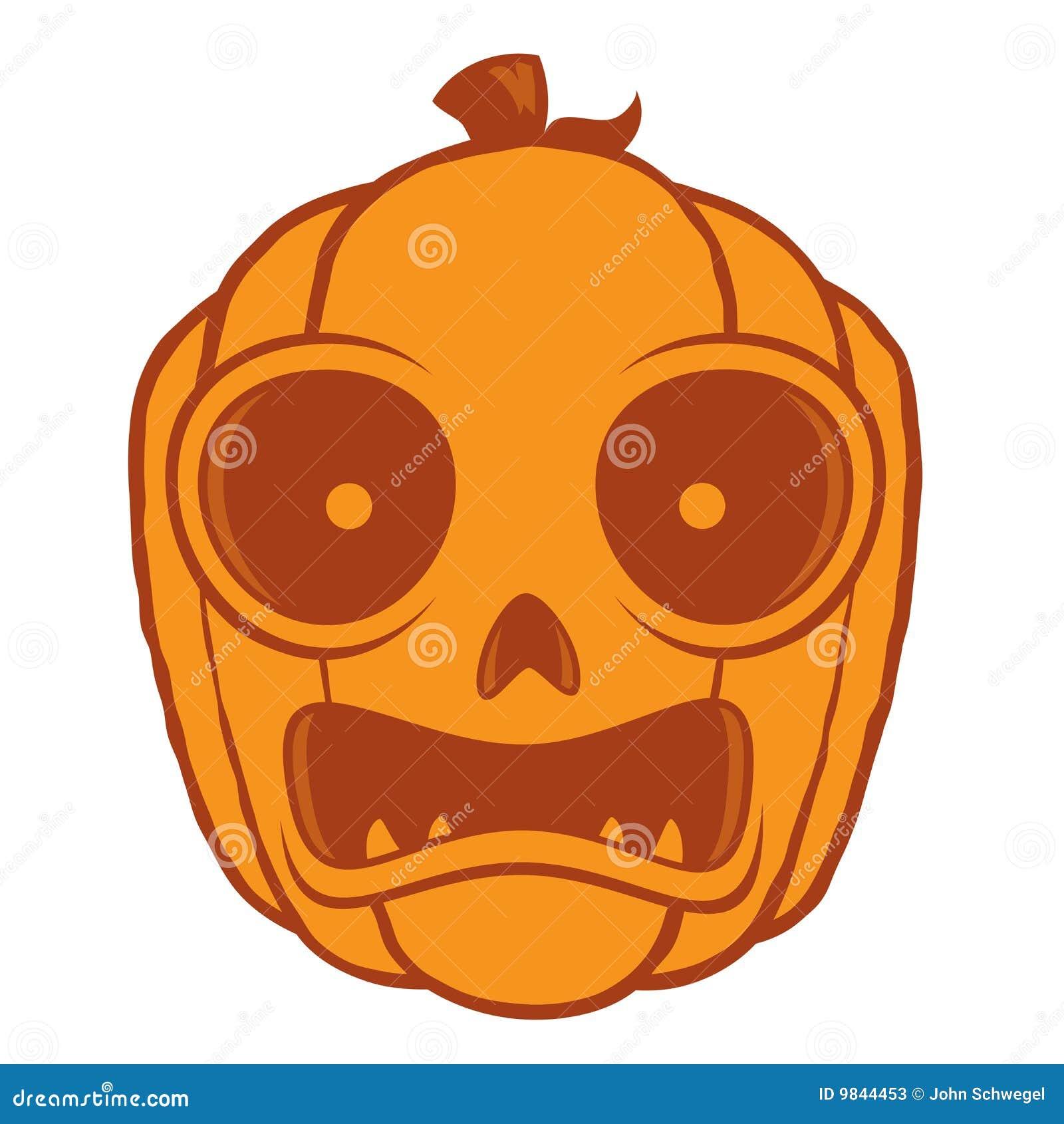 Frightened Halloween Jack O Lantern Stock Photos - Image ...