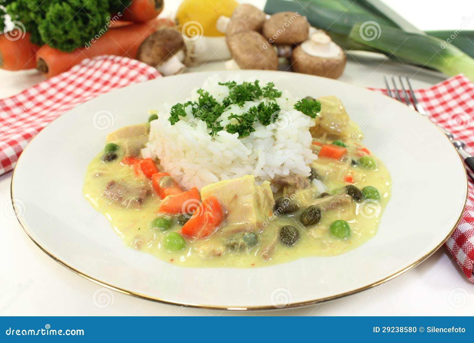 Download Frikassee da galinha foto de stock. Imagem de leeks, cogumelos - 29238580