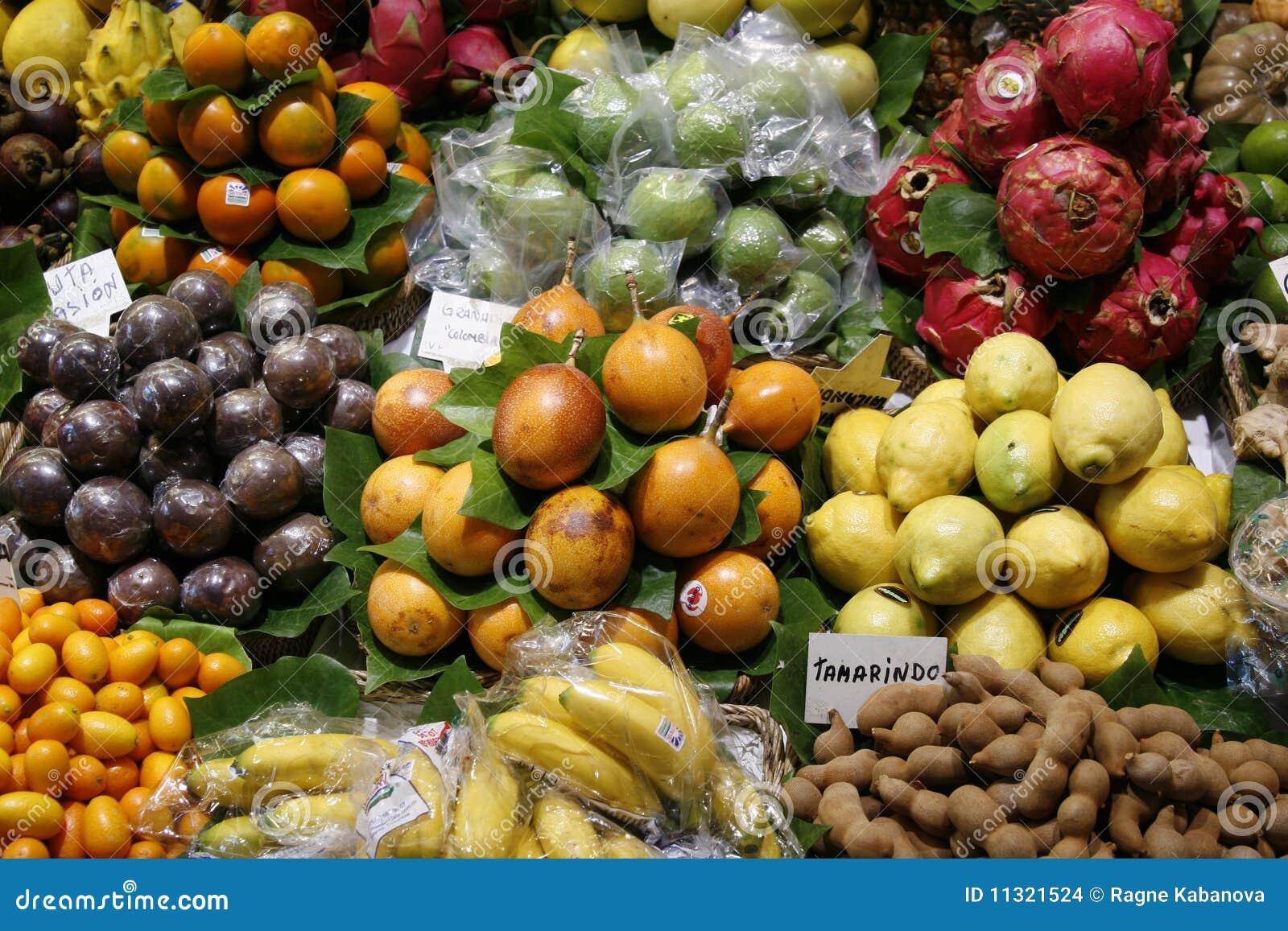 Frische Früchte auf dem Markt