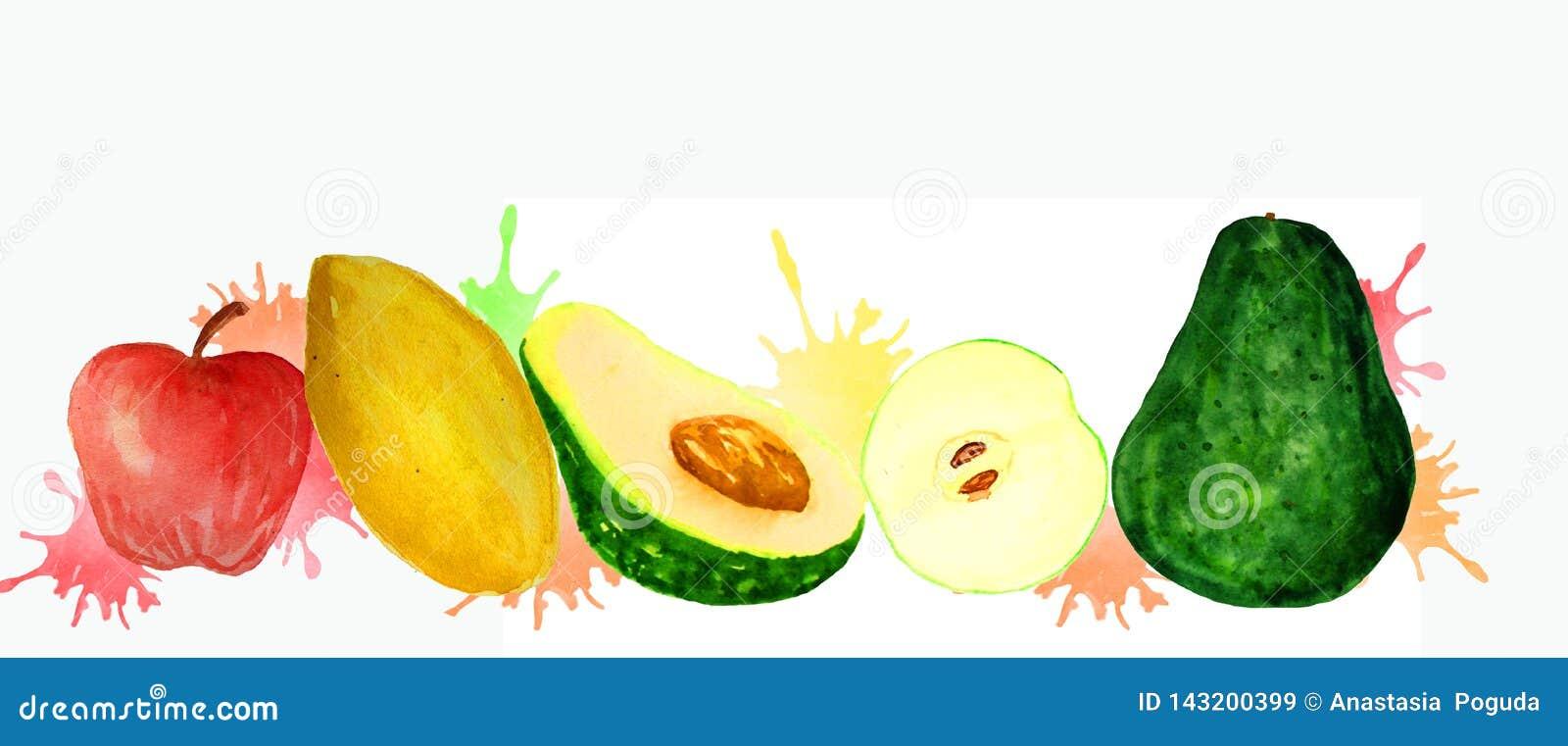 Frische Frucht auf einem weißen Hintergrund
