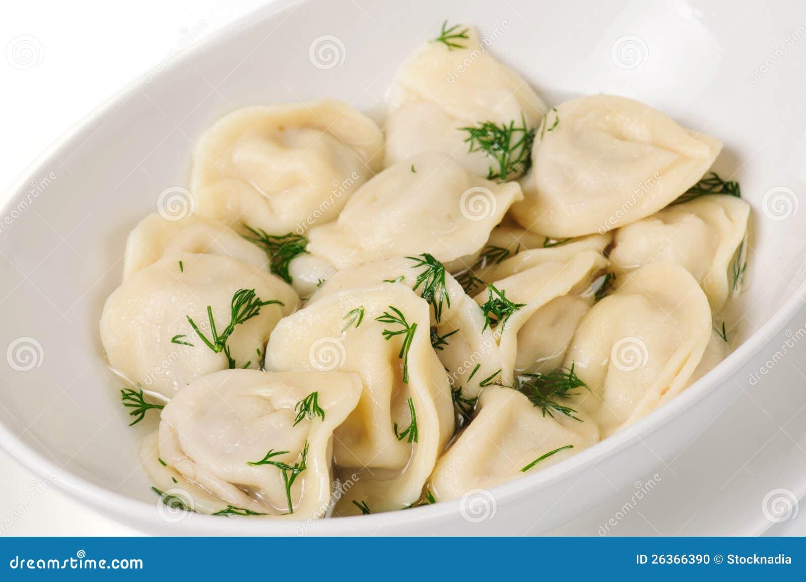Frische gekochte Fleischmehlklöße