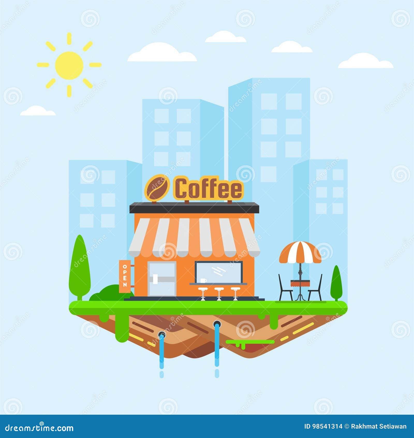 Frische Kaffeetassen und Kaffeebohnen herum