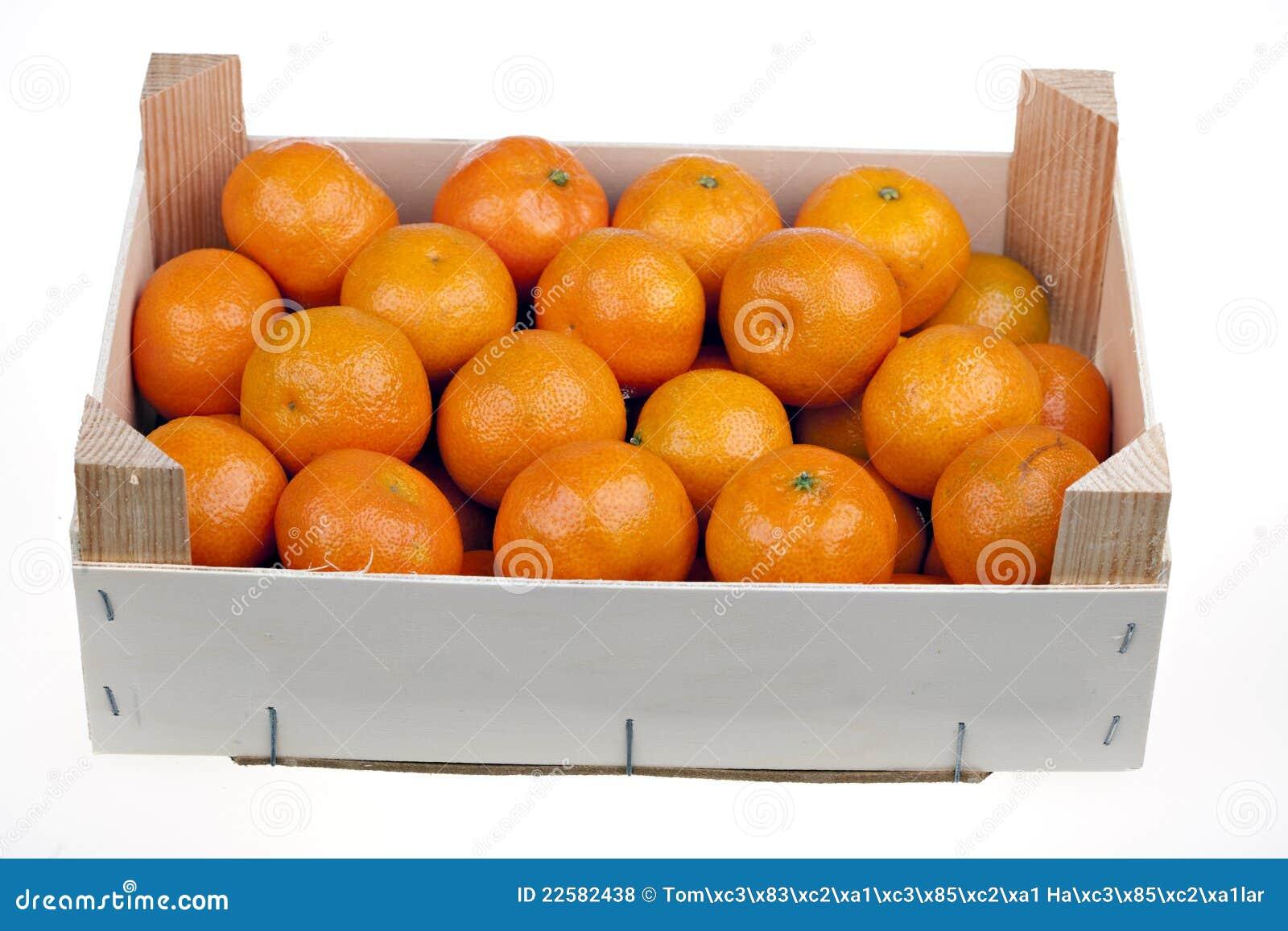 Frische Mandarinezitrusfrüchte auf einem Markt