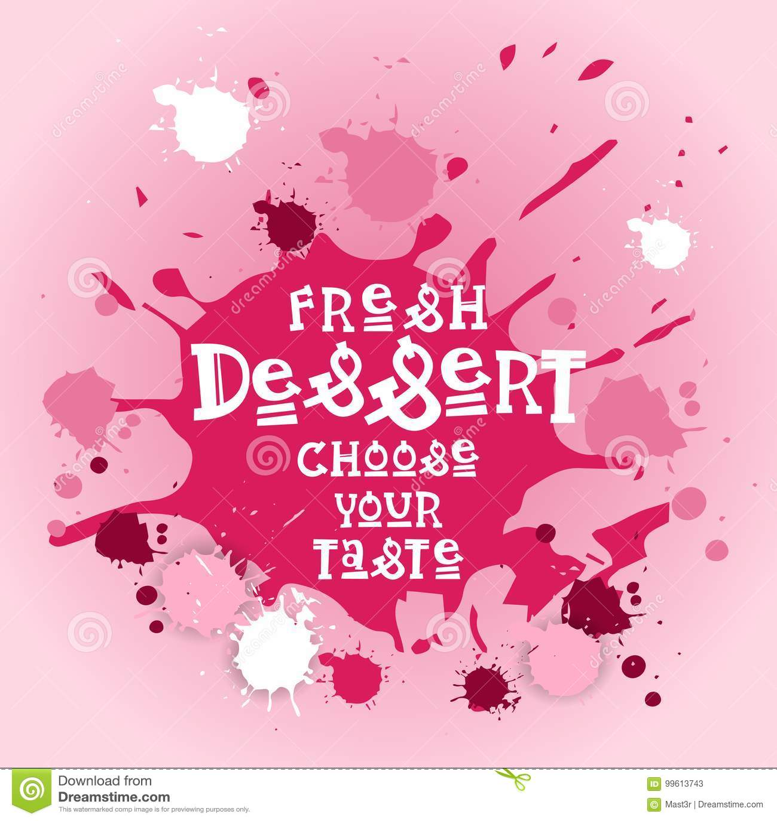 Frische Nachtische wählen Ihr Geschmack-Fahnen-Café Logo Colorful Sweet Beautiful Delicious