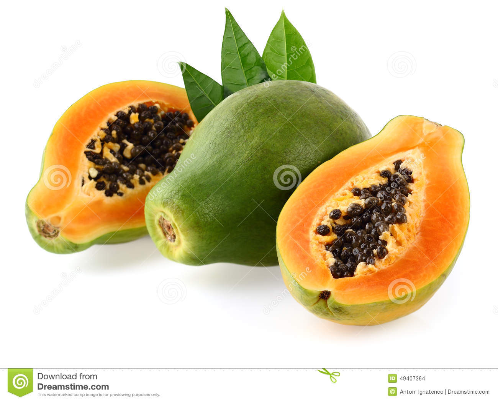 Download Frische Papaya stockfoto. Bild von frucht, seed, scheibe - 49407364