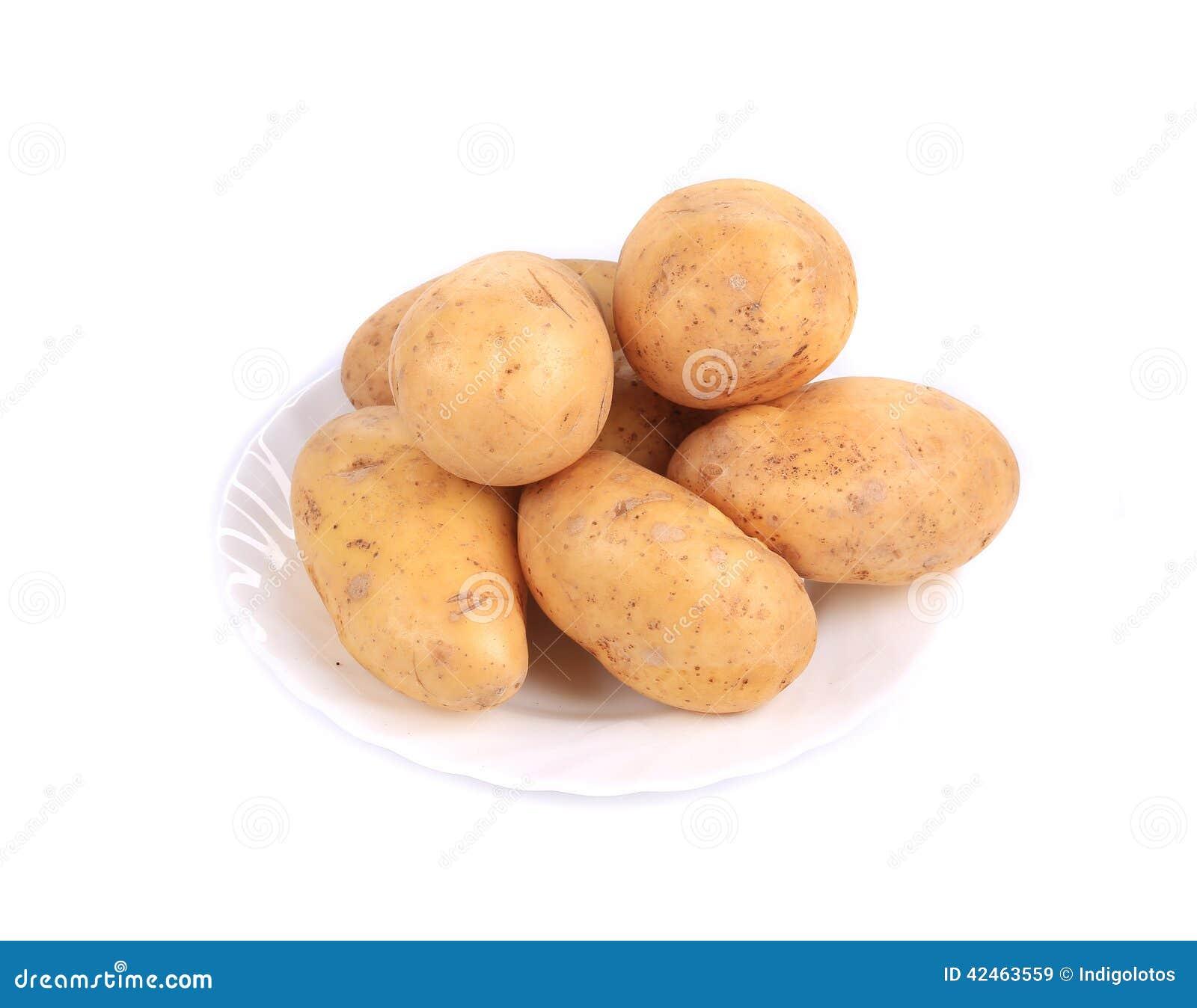 Frische reife Kartoffeln