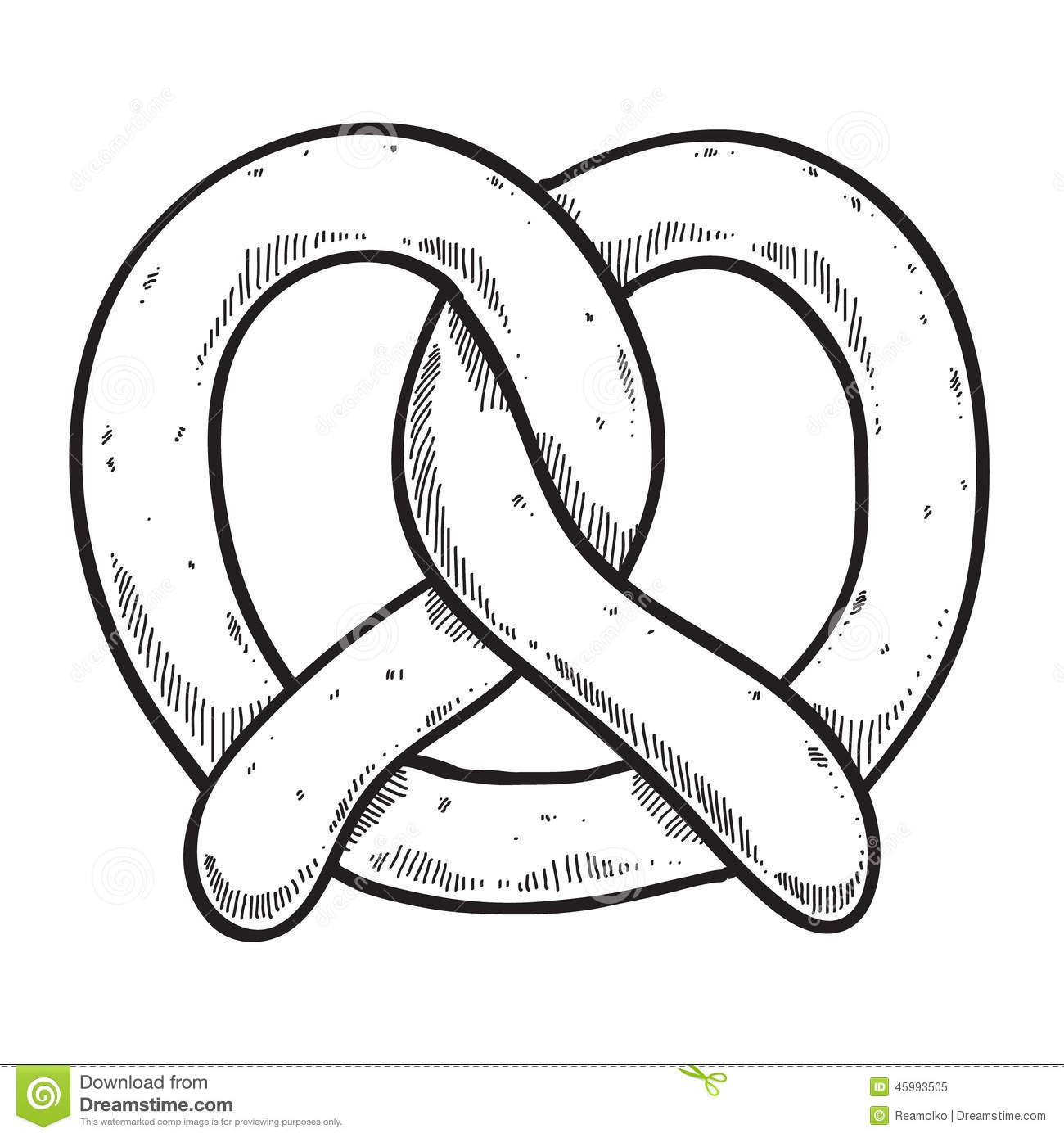 Image Result For Coloring Page Pretzel