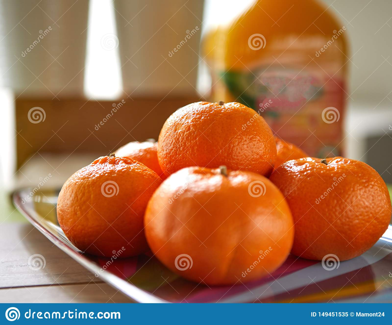 Frische Tangerinen, Schuss im natura