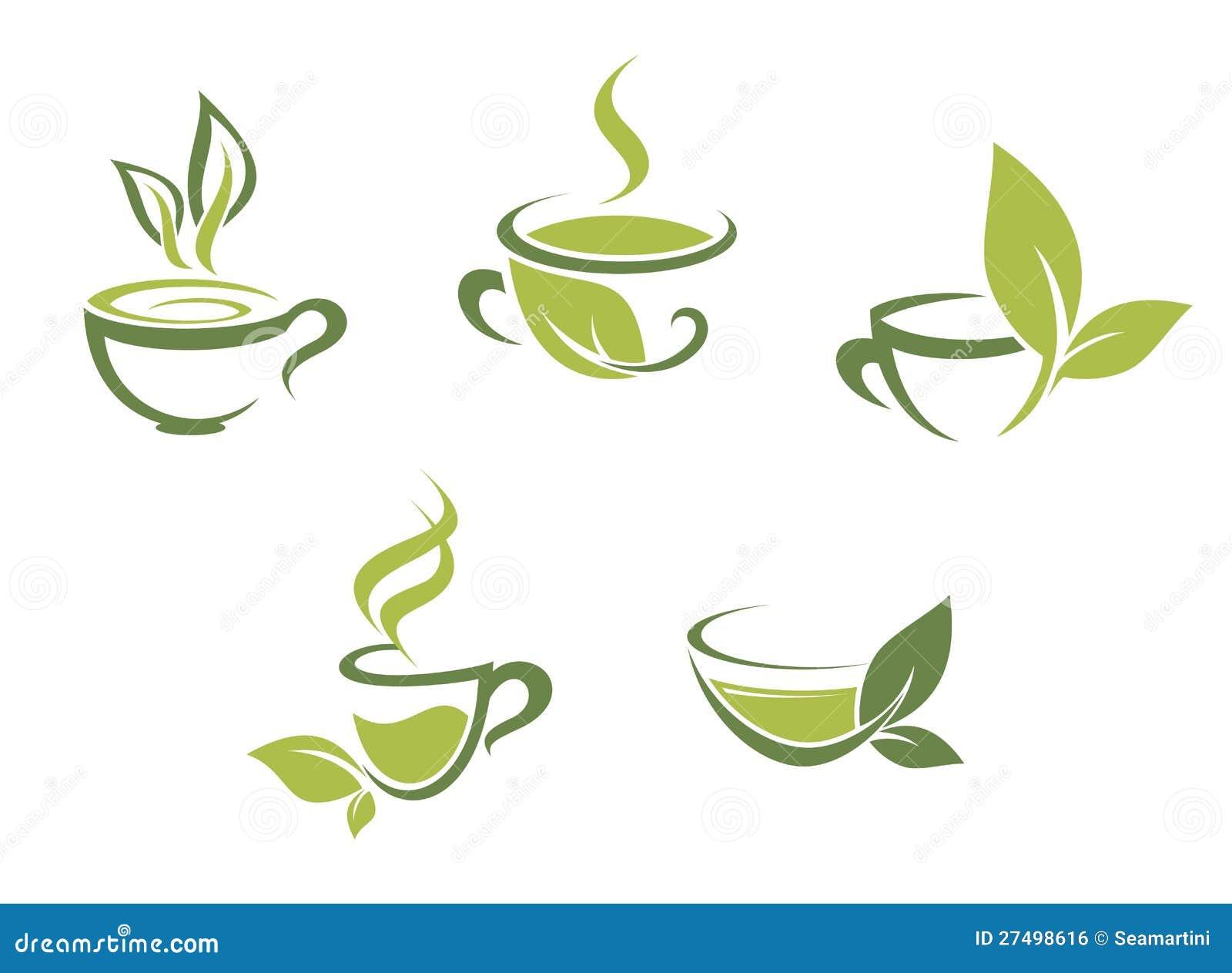 Frische Tee- und Grünblätter