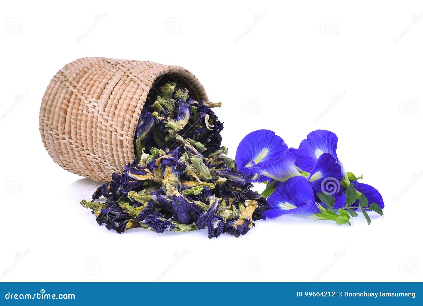 Frische Und Getrocknete Schmetterlingserbse, Blaue Erbse, Clitoria ...