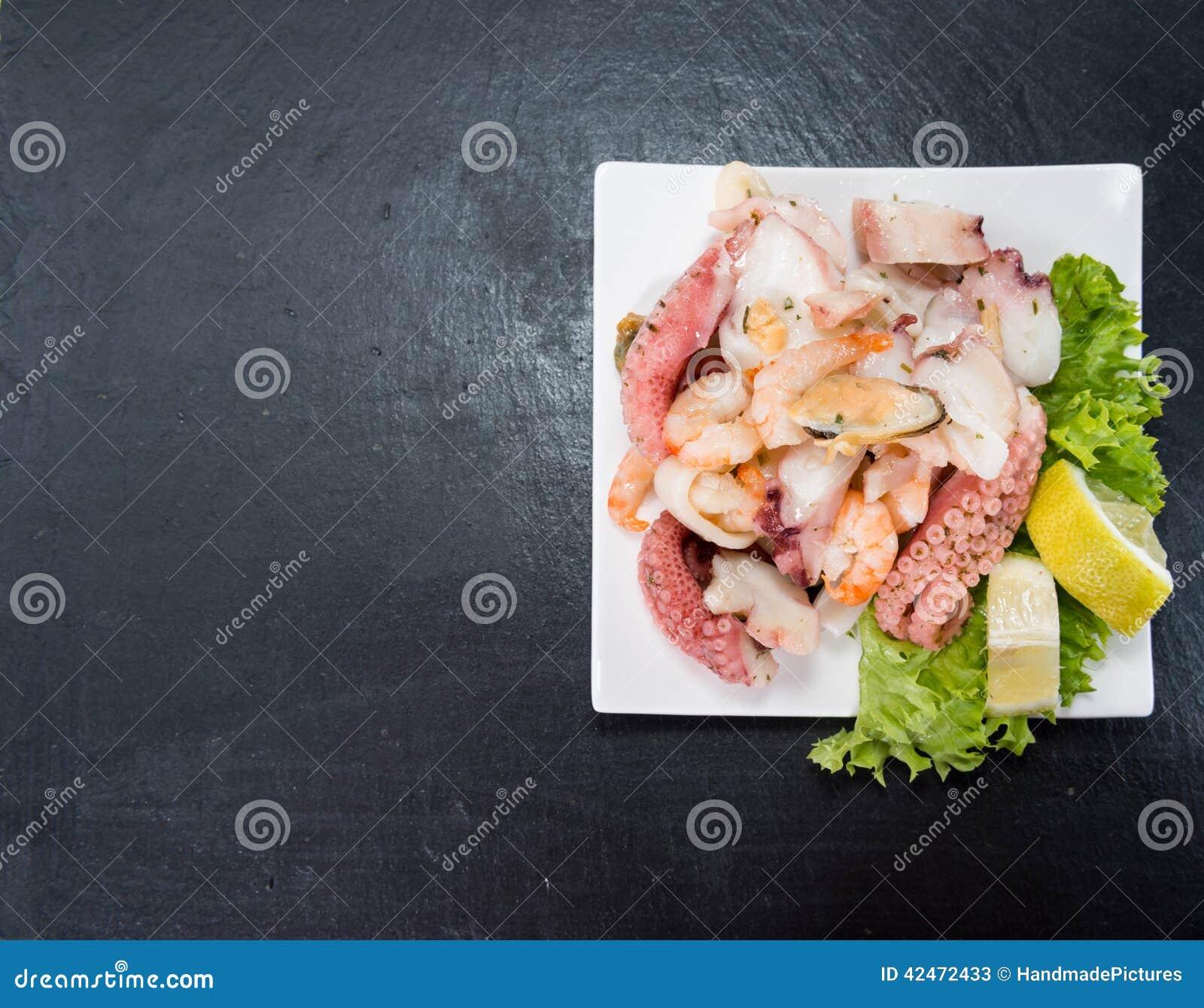Frischer gemachter Meeresfrüchte-Salat