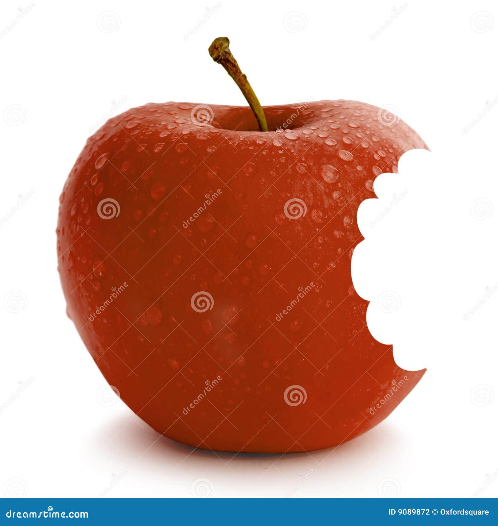 Frischer roter Apfel