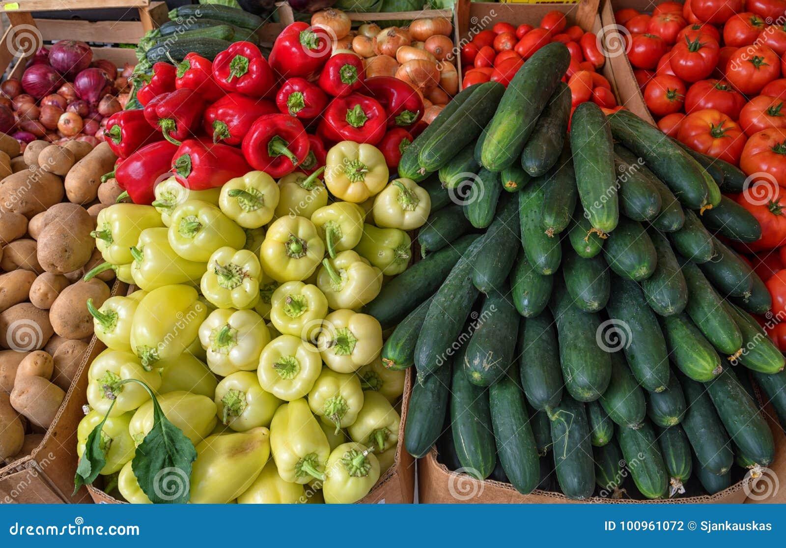 Frischgemüse in Landwirt ` s Markt