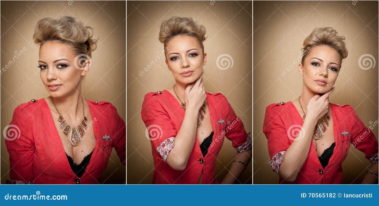 Frisur Und Make Up Herrliches Weibliches Kunstportrat Mit Schonen