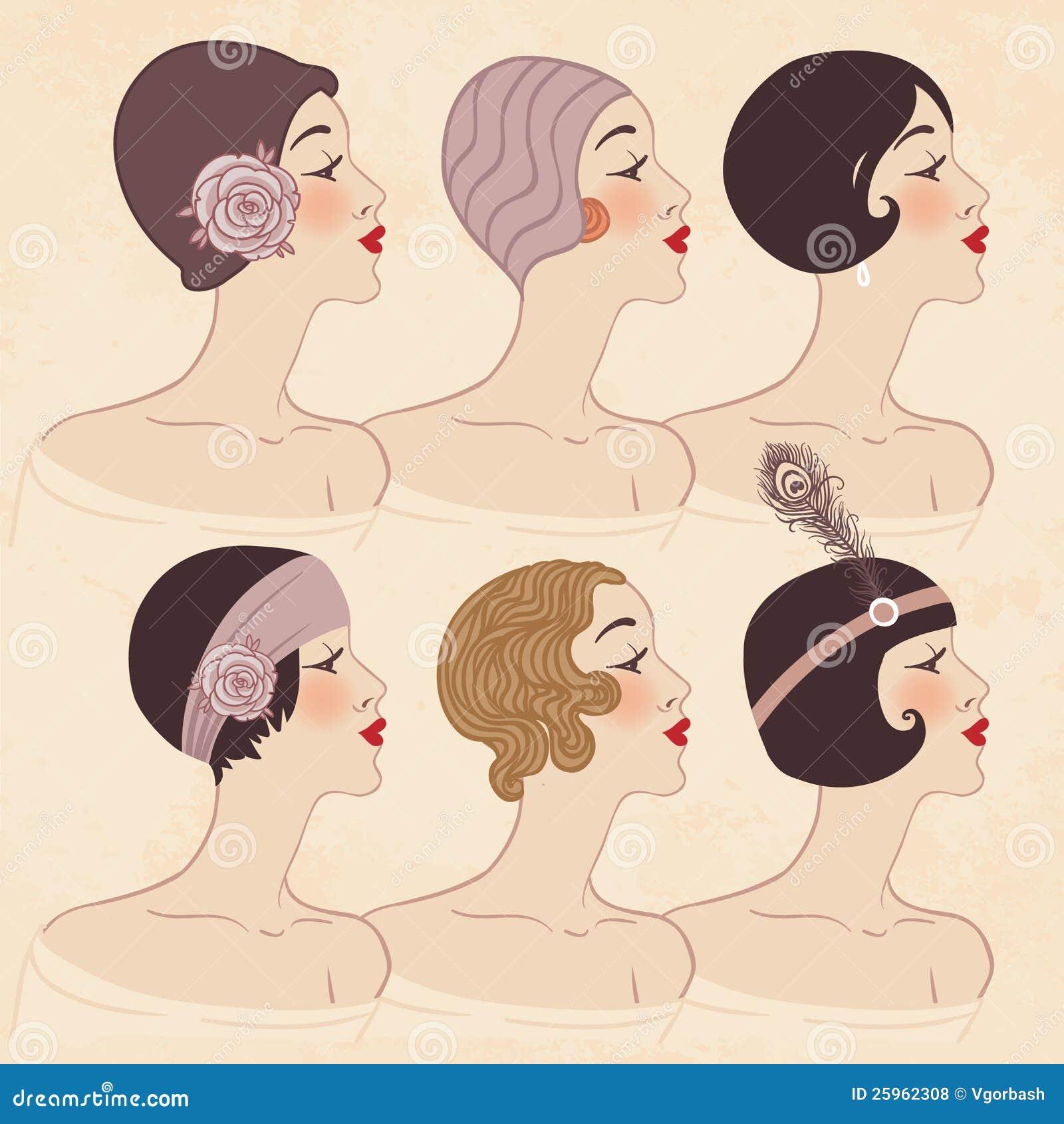 Frisyr, huvudbonad och makeup av 20-tal