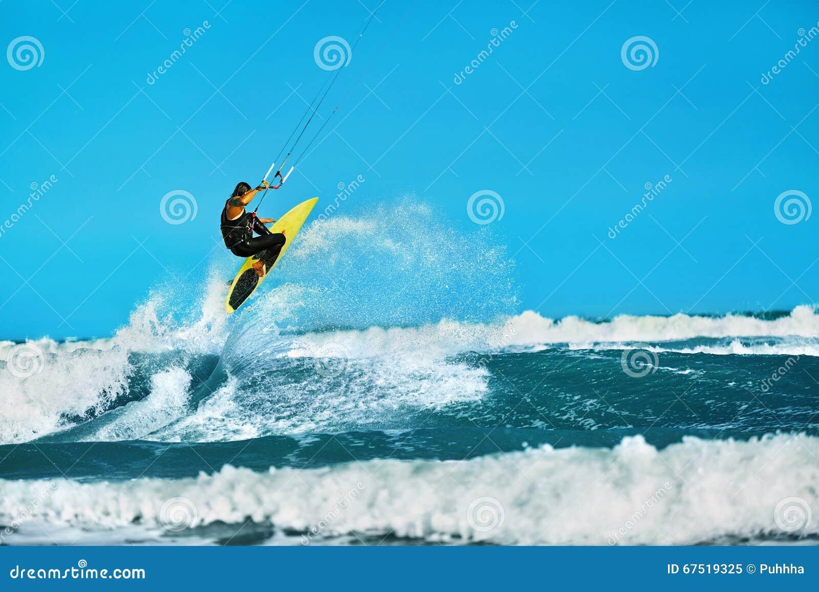 Fritids- handling för vattensportar Kiteboarding ytterlighetsport Su