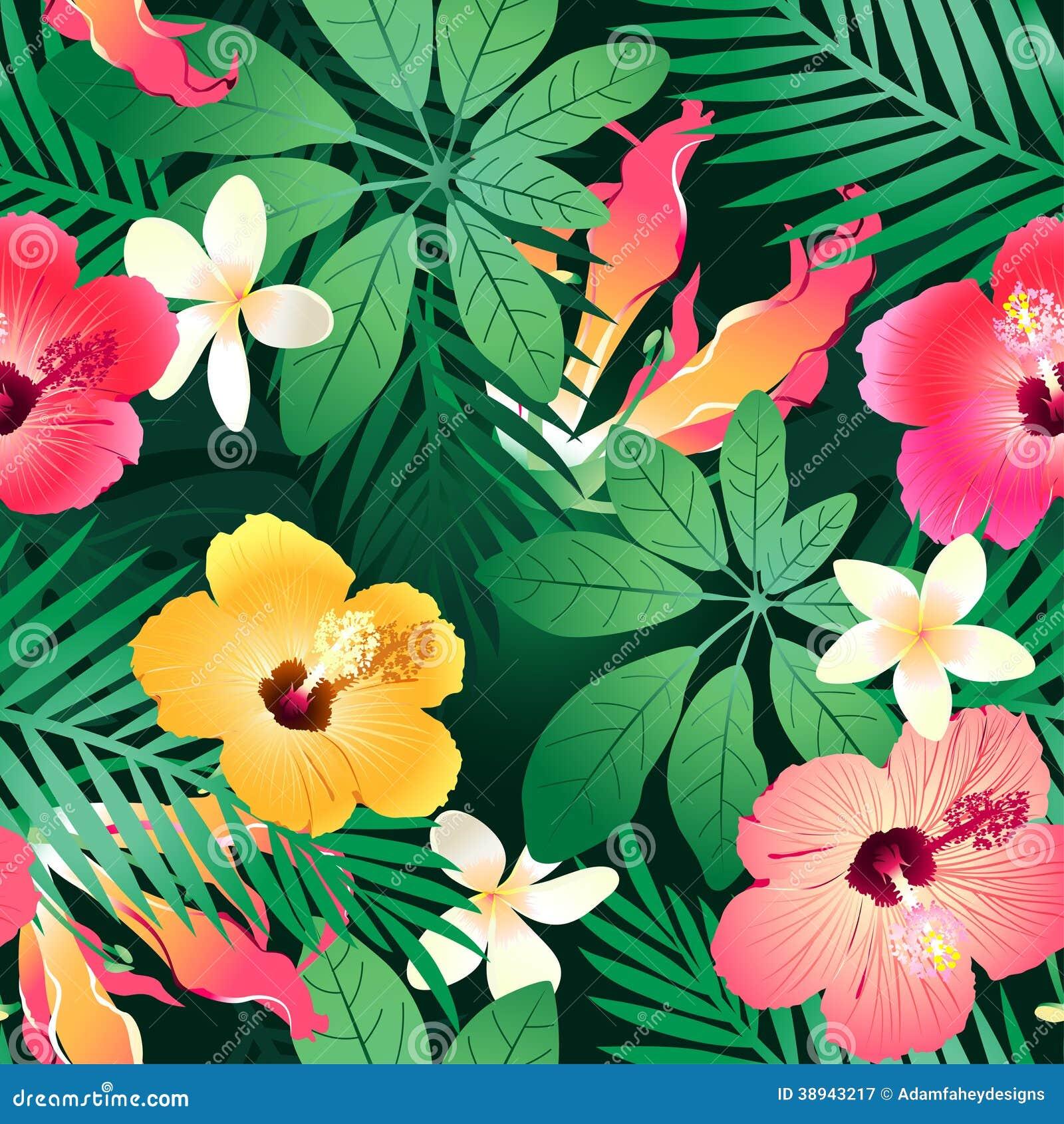 Frodiga tropiska blommor.