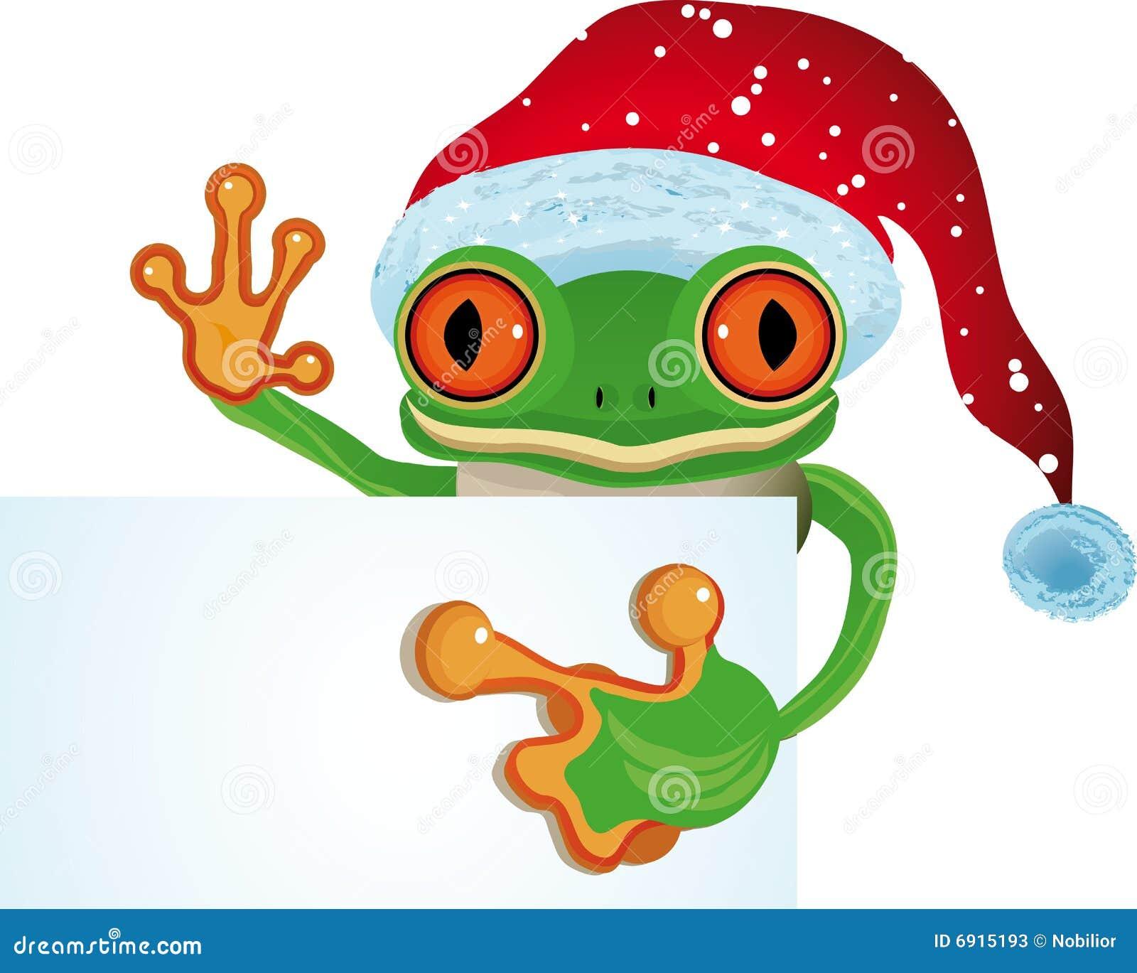 Frog as Santa