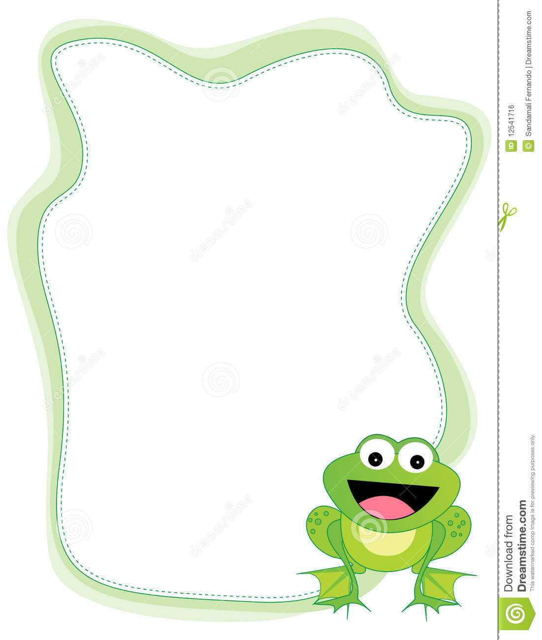 Frog Border Royalty Free Stock Image - Image: 12541716