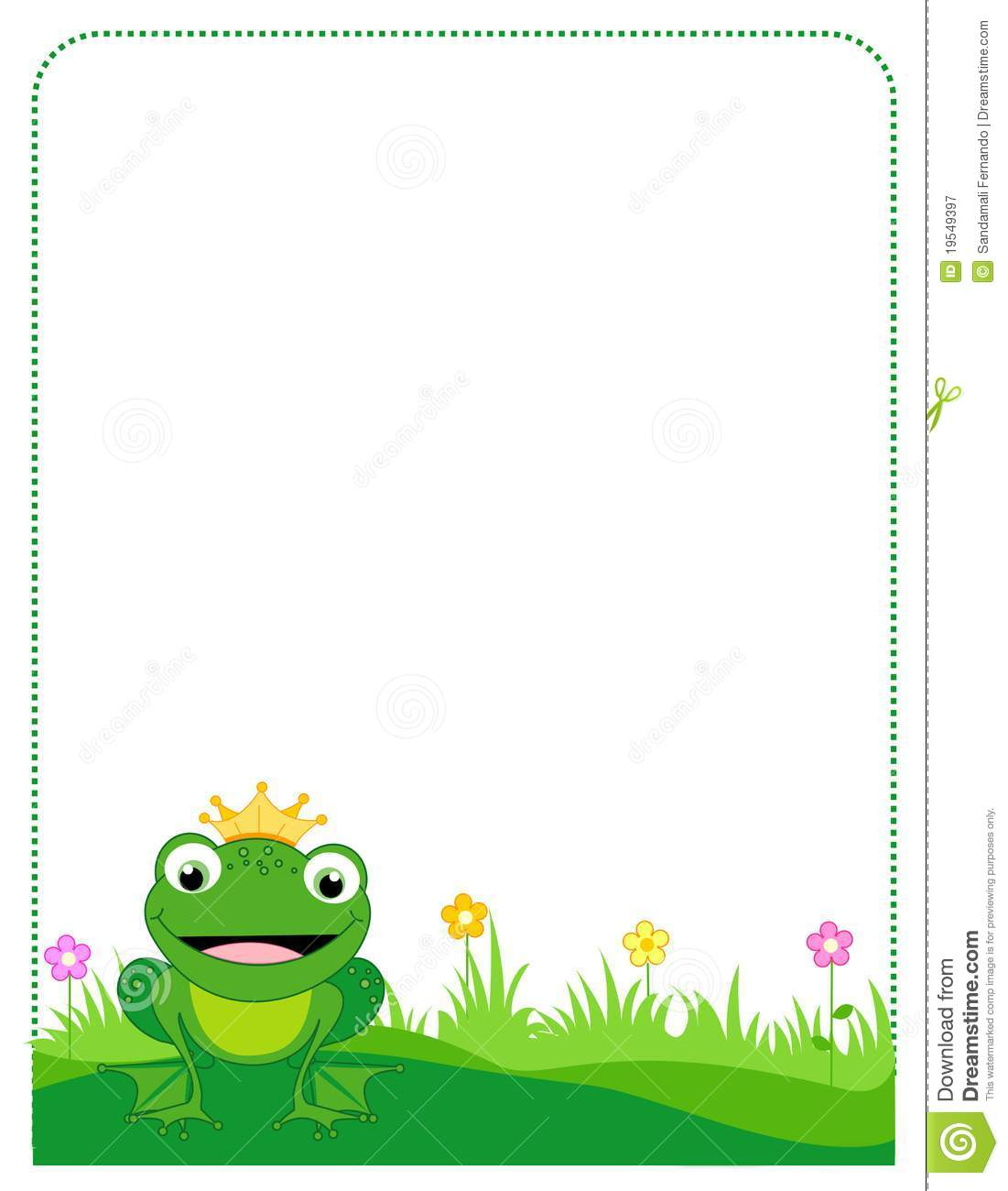Frog Border Frame Stock Vector Image Of Forest Amphibian