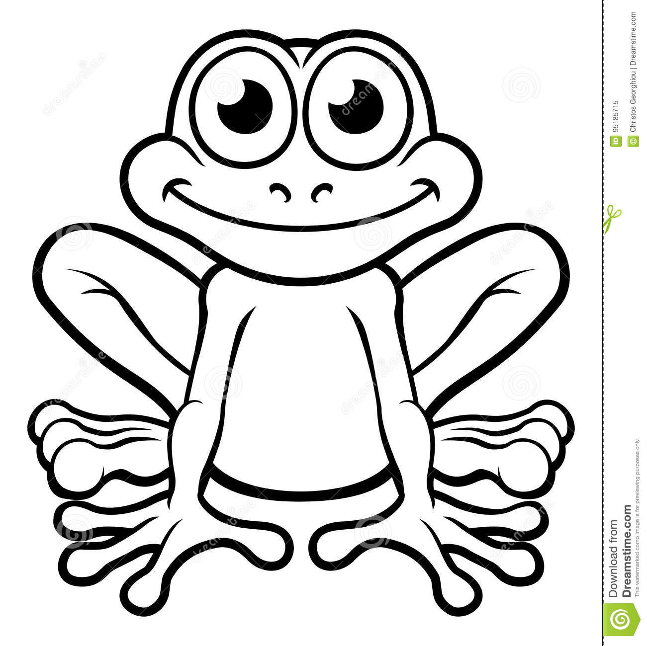 Cartoon Characters Outline : Frog cartoon character stock vector illustration of clip