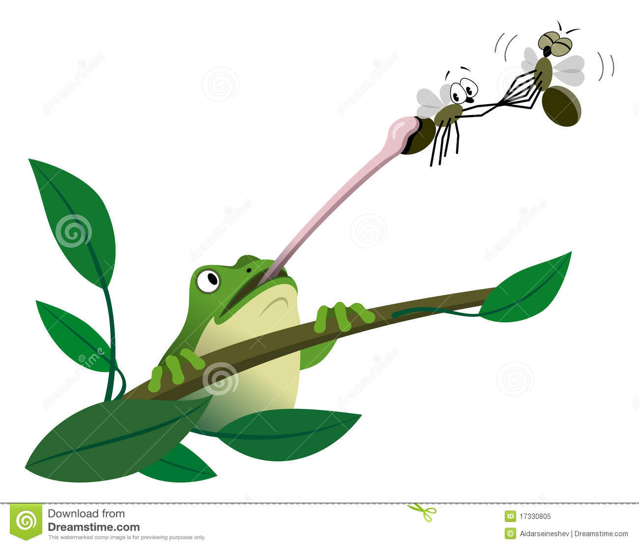 Frog Catching A Fly Royalty Free Stock Photo - Image: 17330805