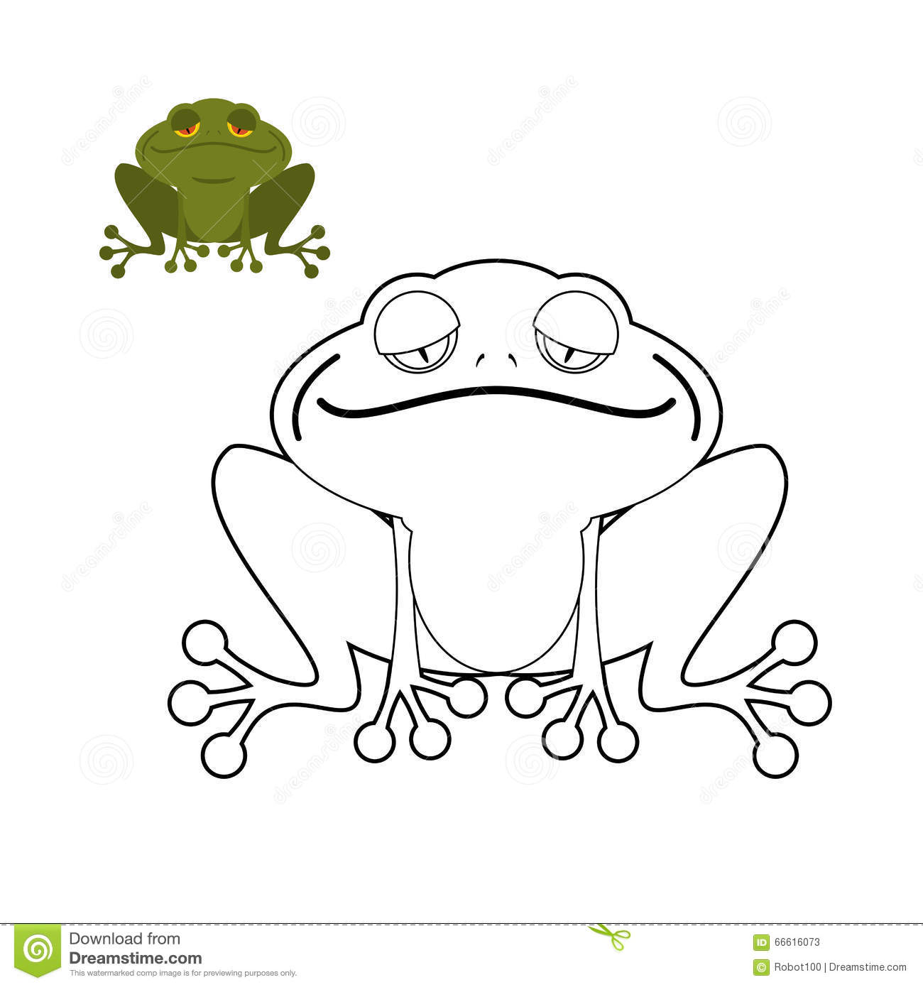 frog coloring book funny amphibious reptile animal from swamp stock vector illustration of. Black Bedroom Furniture Sets. Home Design Ideas