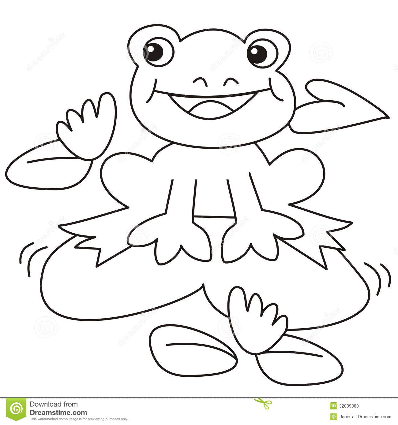 Frog-coloring stock vector. Illustration of folio, pastime - 32039880