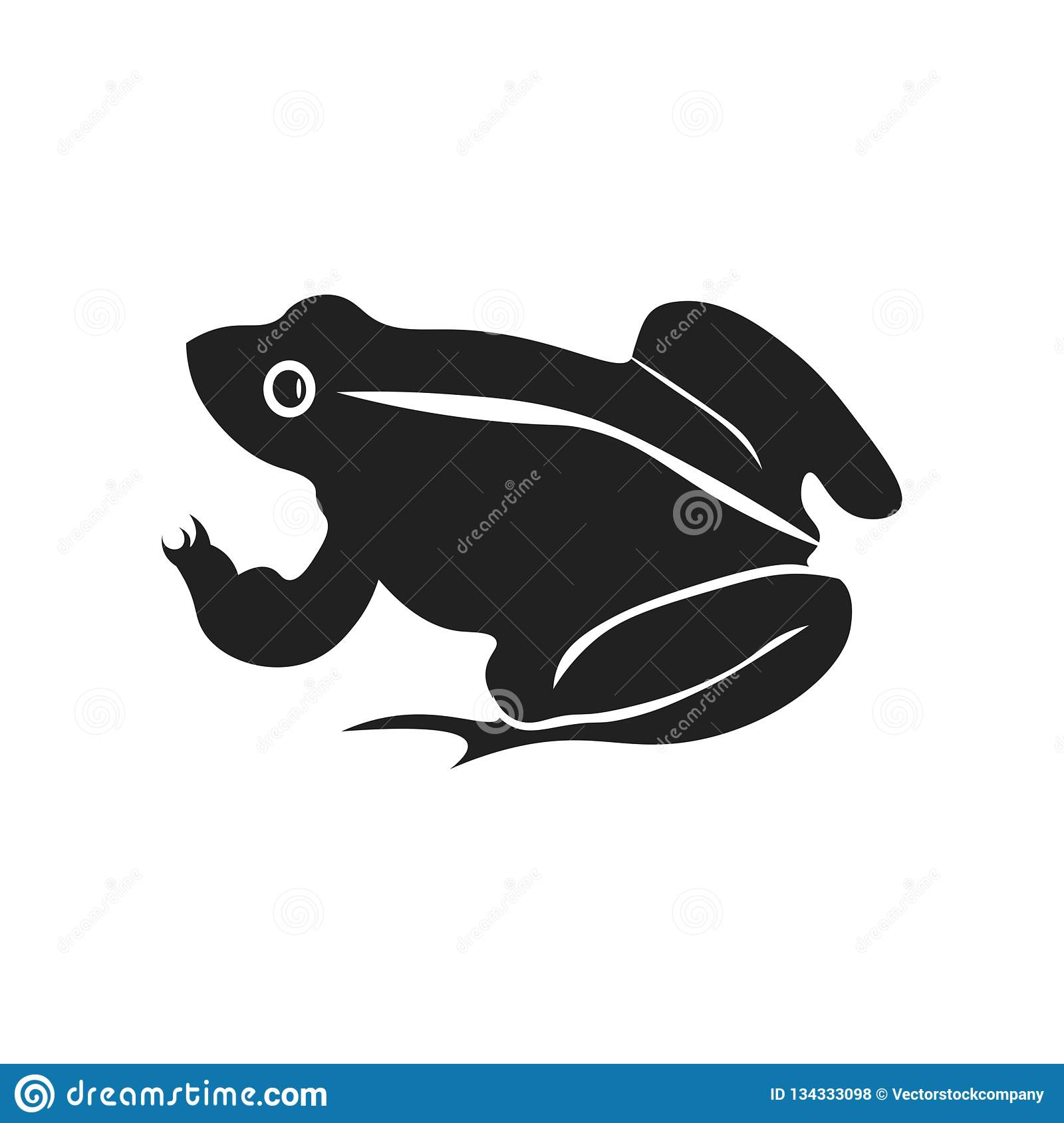Frog icon vector sign and symbol isolated on white background, Frog logo concept