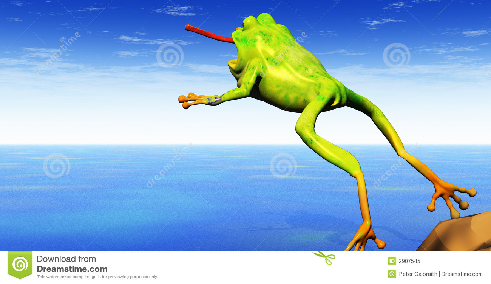 Frog Jumping Royalty F...