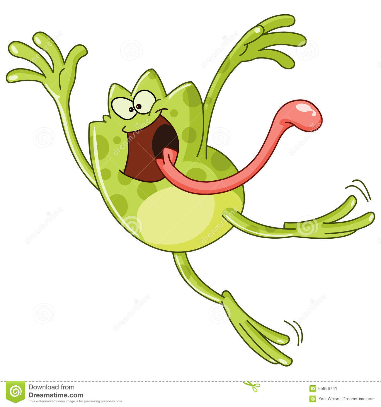 Frog Jumping Stock Vector - Image: 65966741