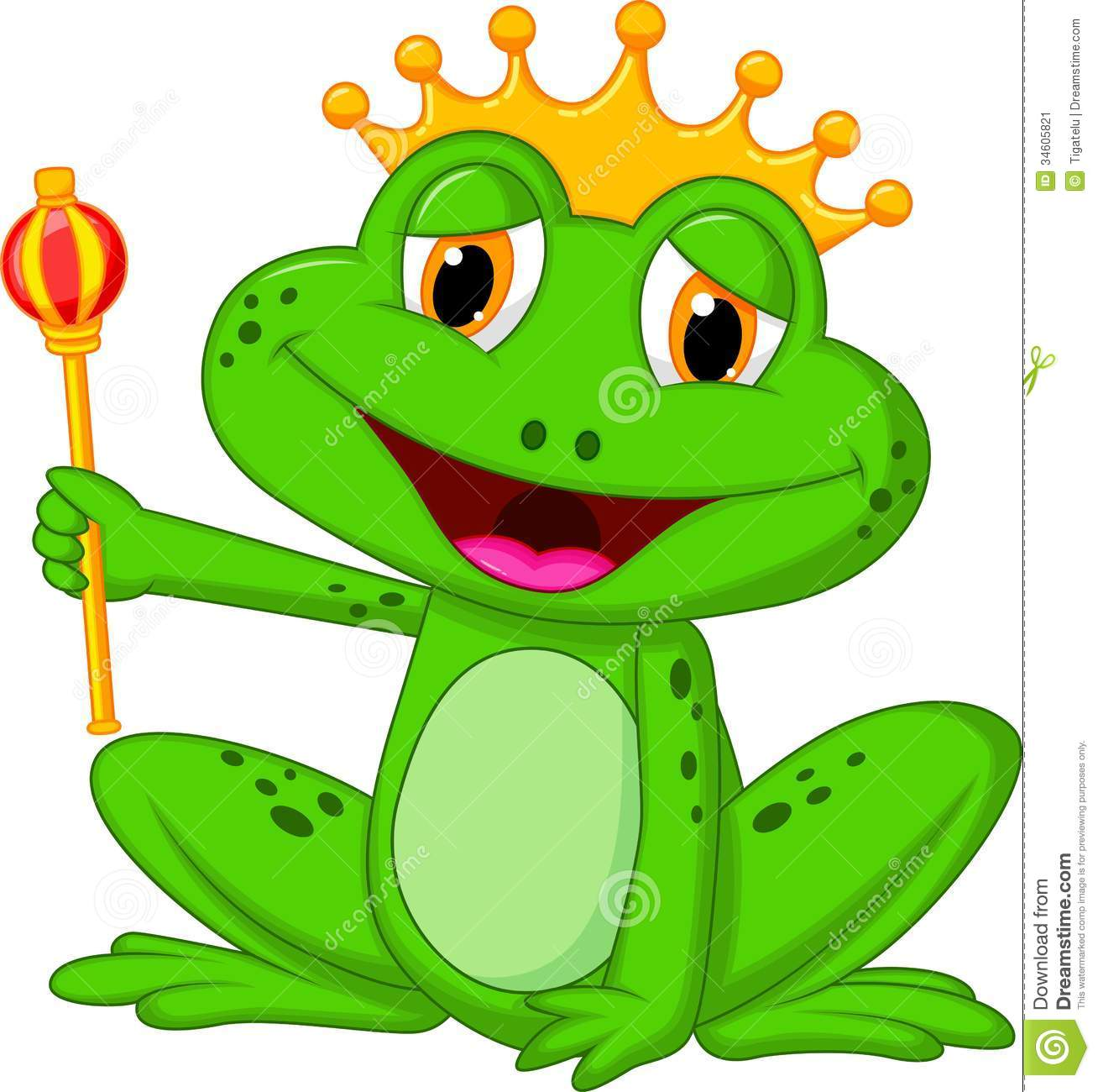 Frog King Cartoon Stock Image - Image: 34605821