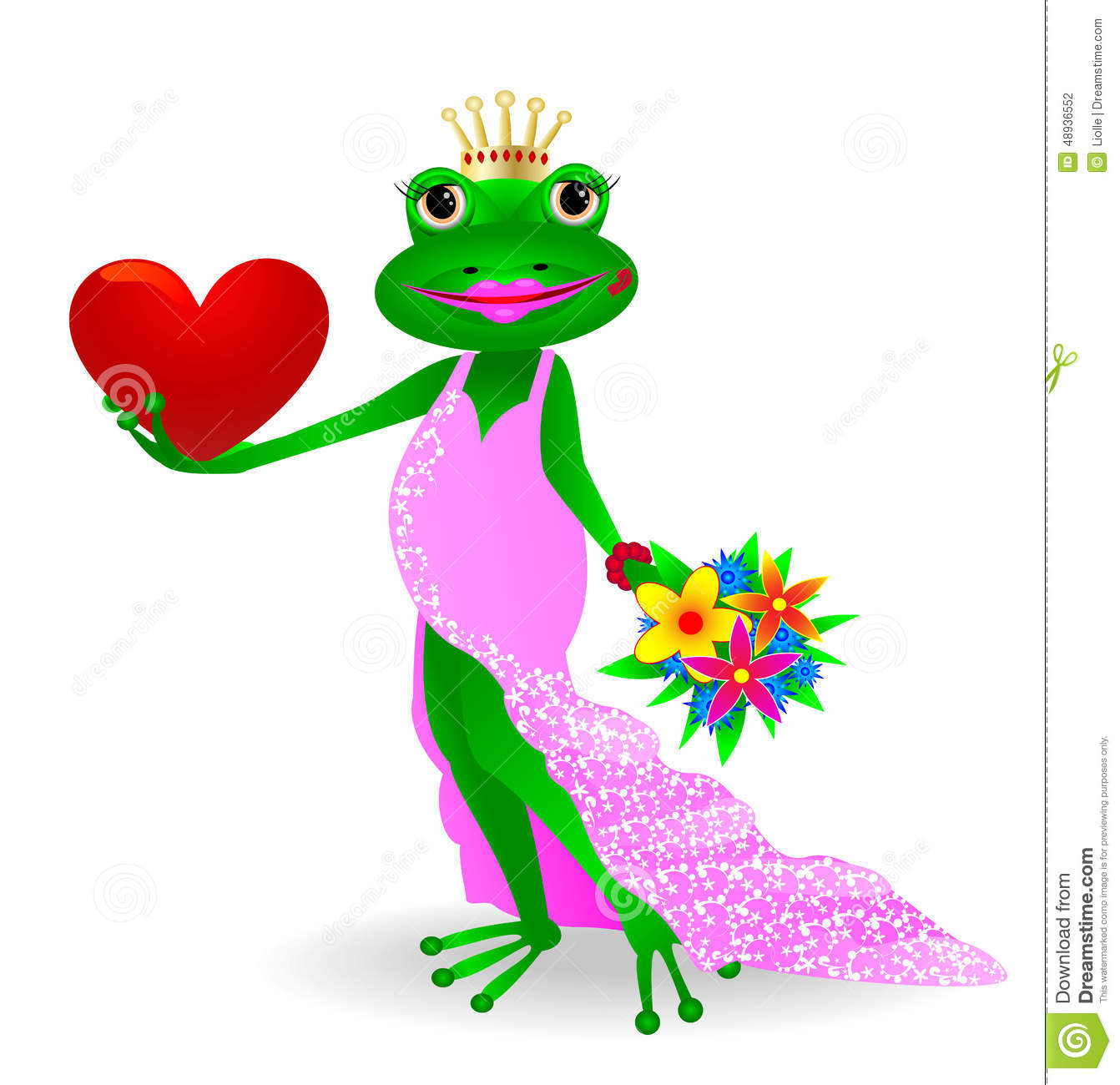 Frog In Love Stock Vec...