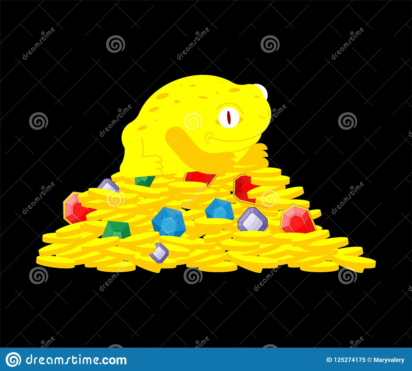 Frog And Money Chinese Symbol Of Wealth Toad And Coin Vector