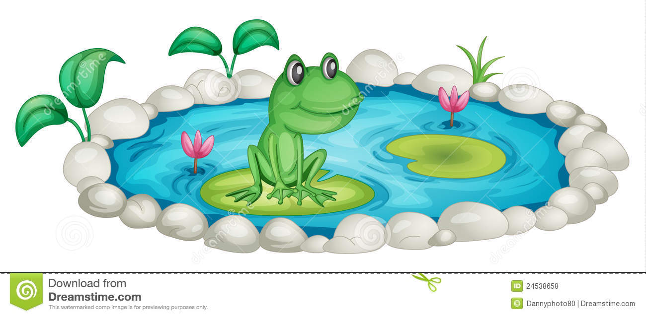 Frog In A Pond Royalty Free Stock Photos - Image: 24538658