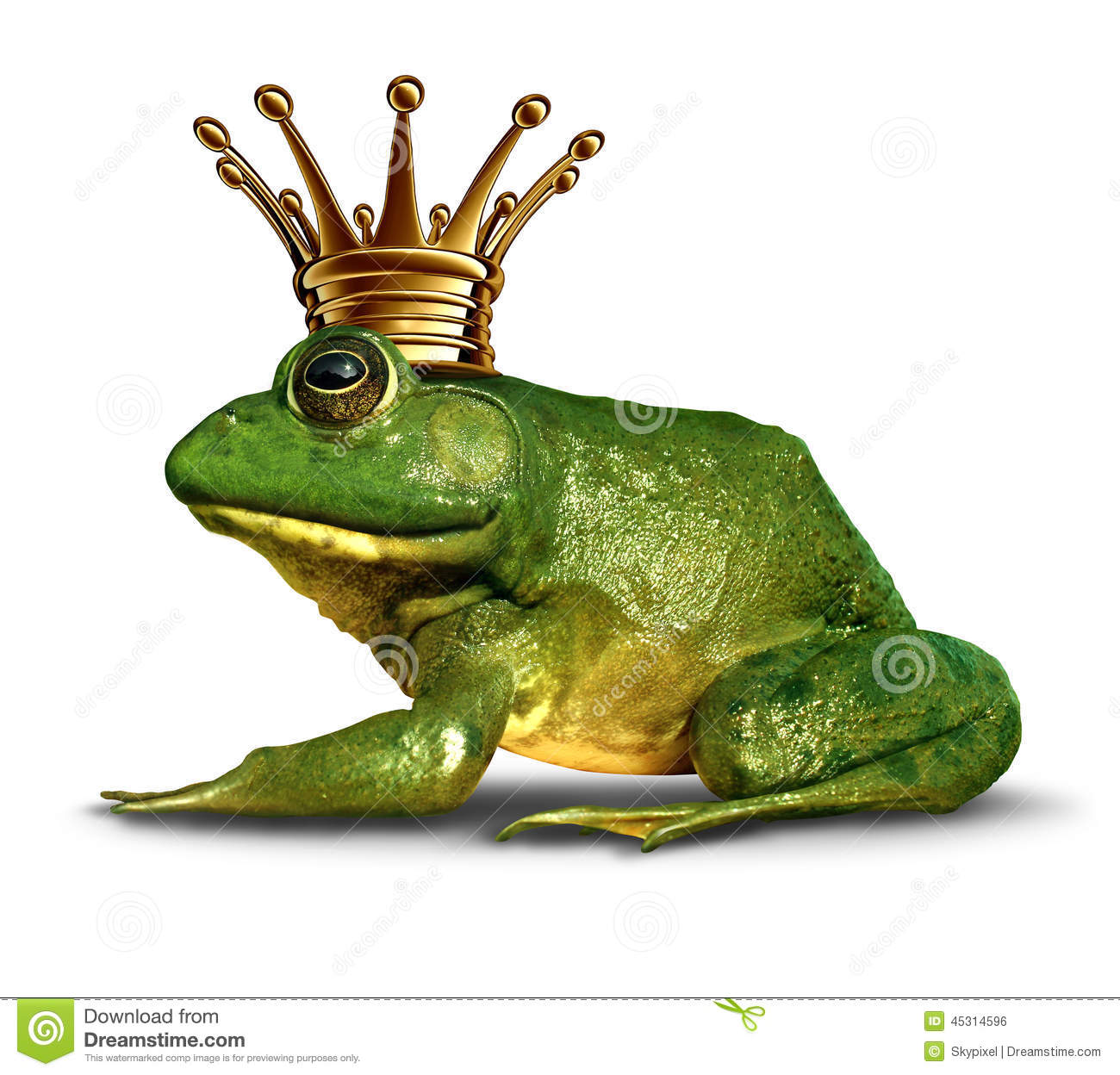 Frog prince side view stock illustration illustration of for Frog transformation
