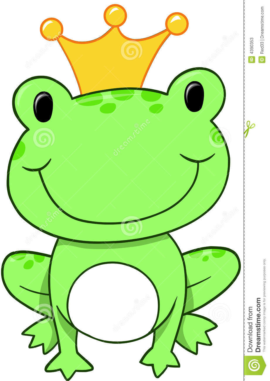 frog prince vector stock vector illustration of plush