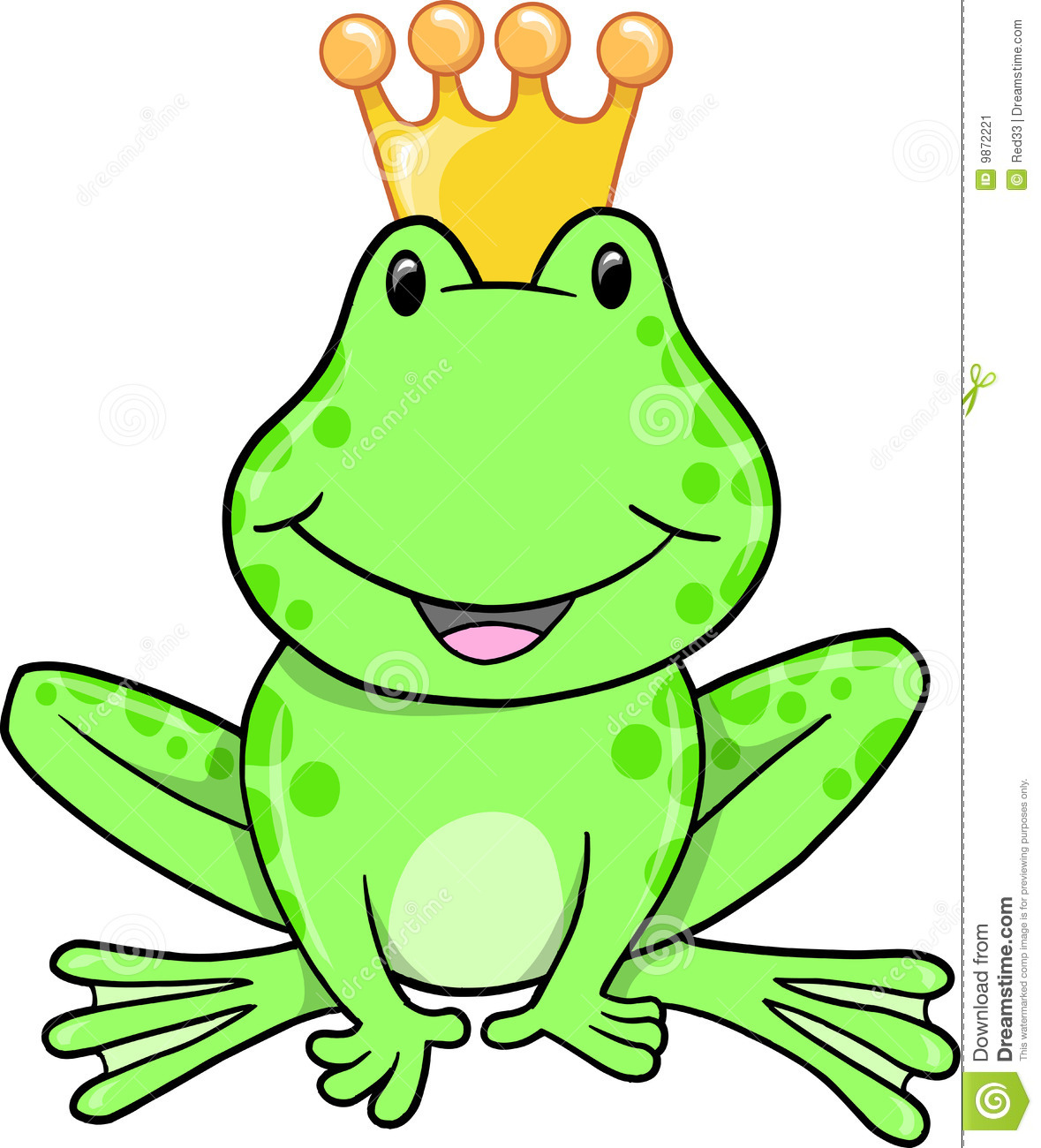 frog prince vector stock vector illustration of clip 9872221 rh dreamstime com frog prince clipart black and white Printable Frog Prince