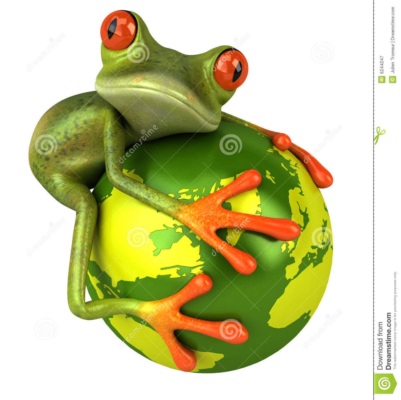 frog protecting the earth royalty free stock photography image