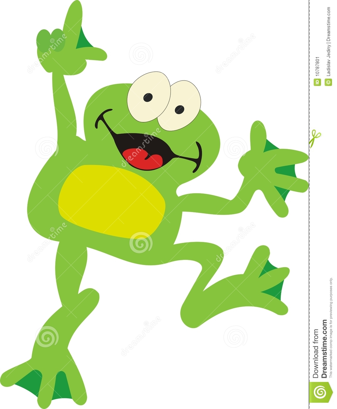 Frog Jumping Clipart Frog - smile st...