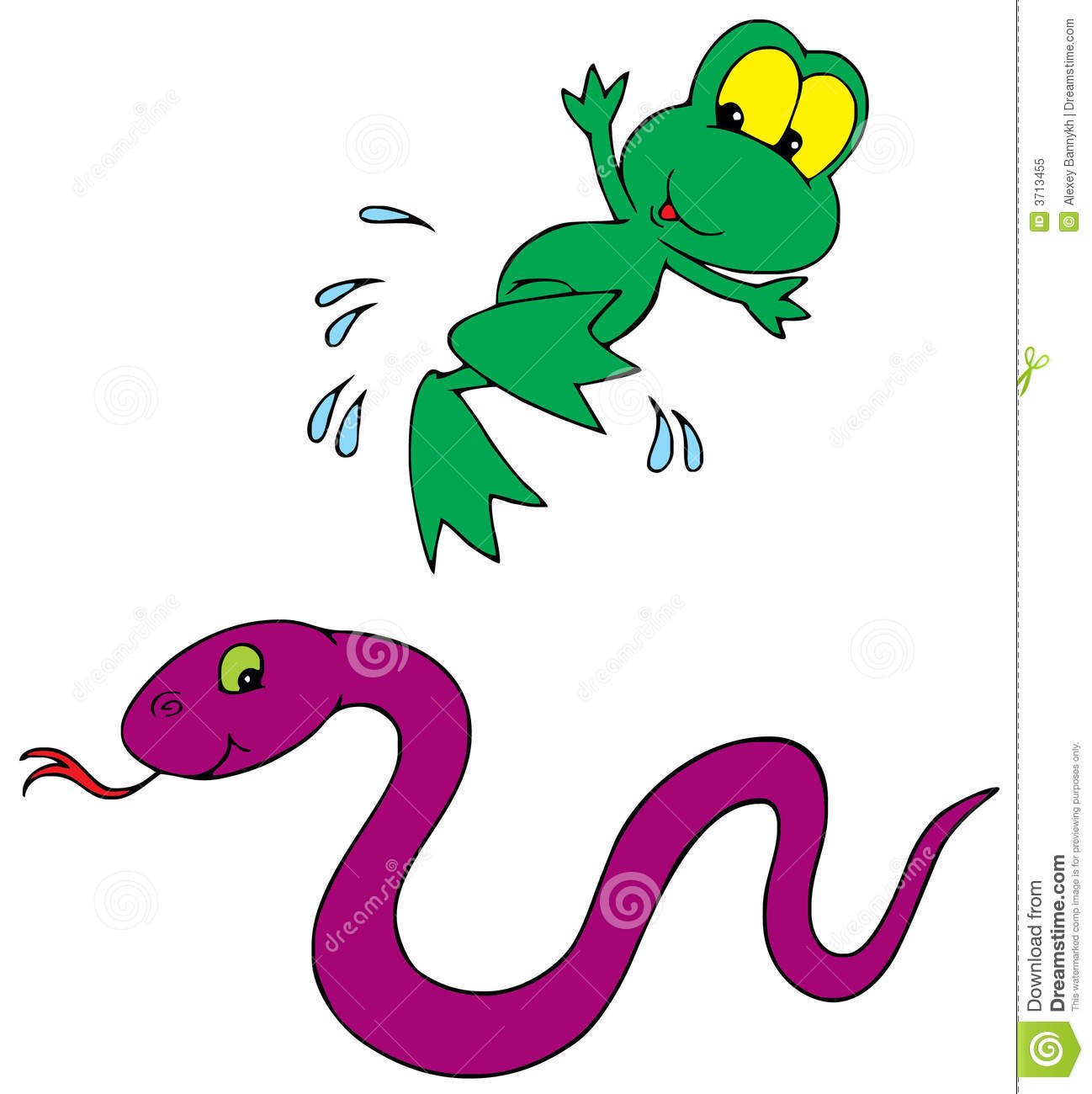 Frog And Snake (vector Clip-art) Royalty Free Stock Photo - Image ...