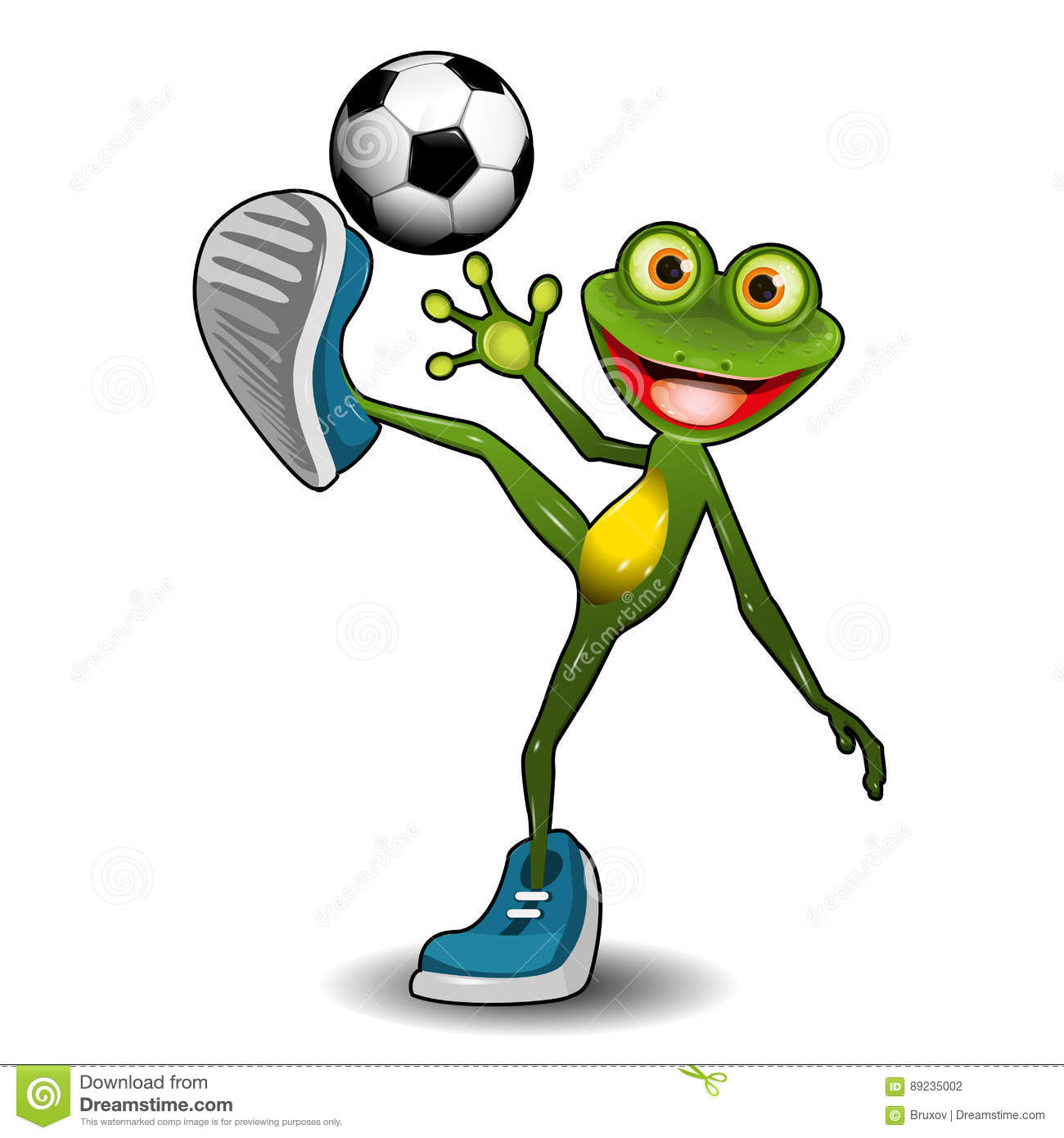 frog with a soccer ball stock vector illustration of sports 89235002 rh dreamstime com Dead Frogs Volleyball Teamwork Volleyball