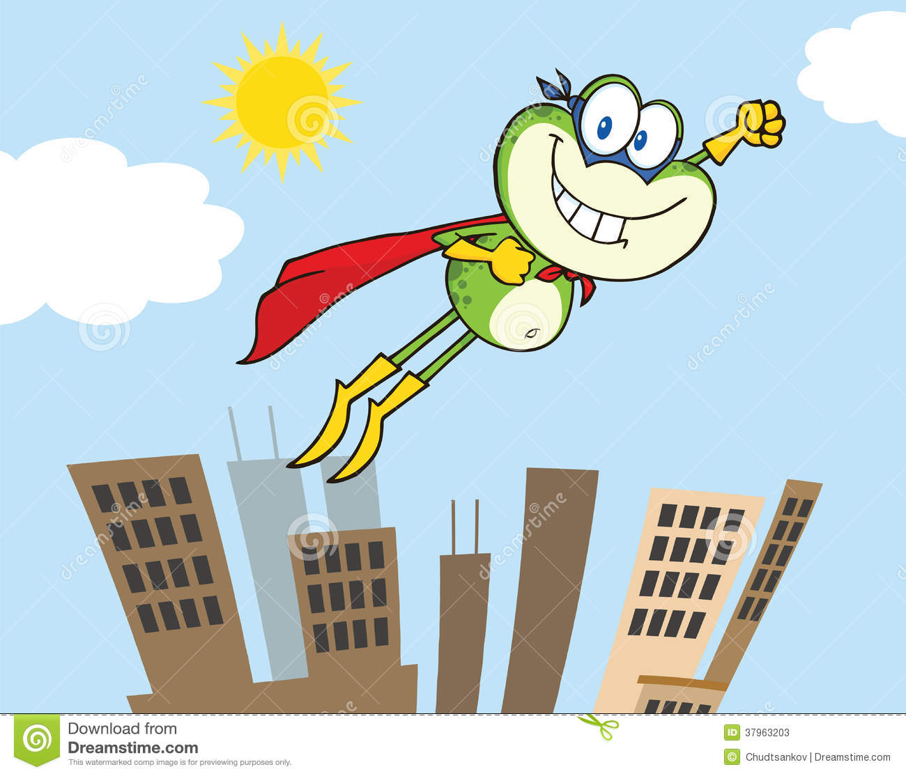 Superhero Cartoon Characters Flying Frog superhero cartoon