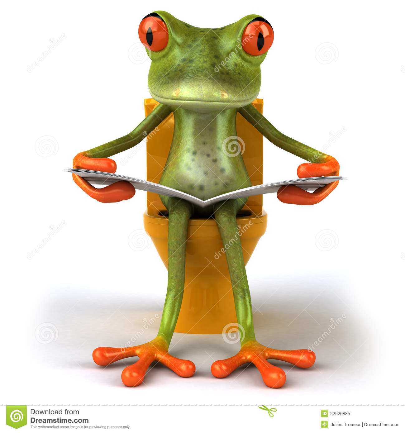 Frog And Toilets Stock Illustration Illustration Of Closeup 22926885