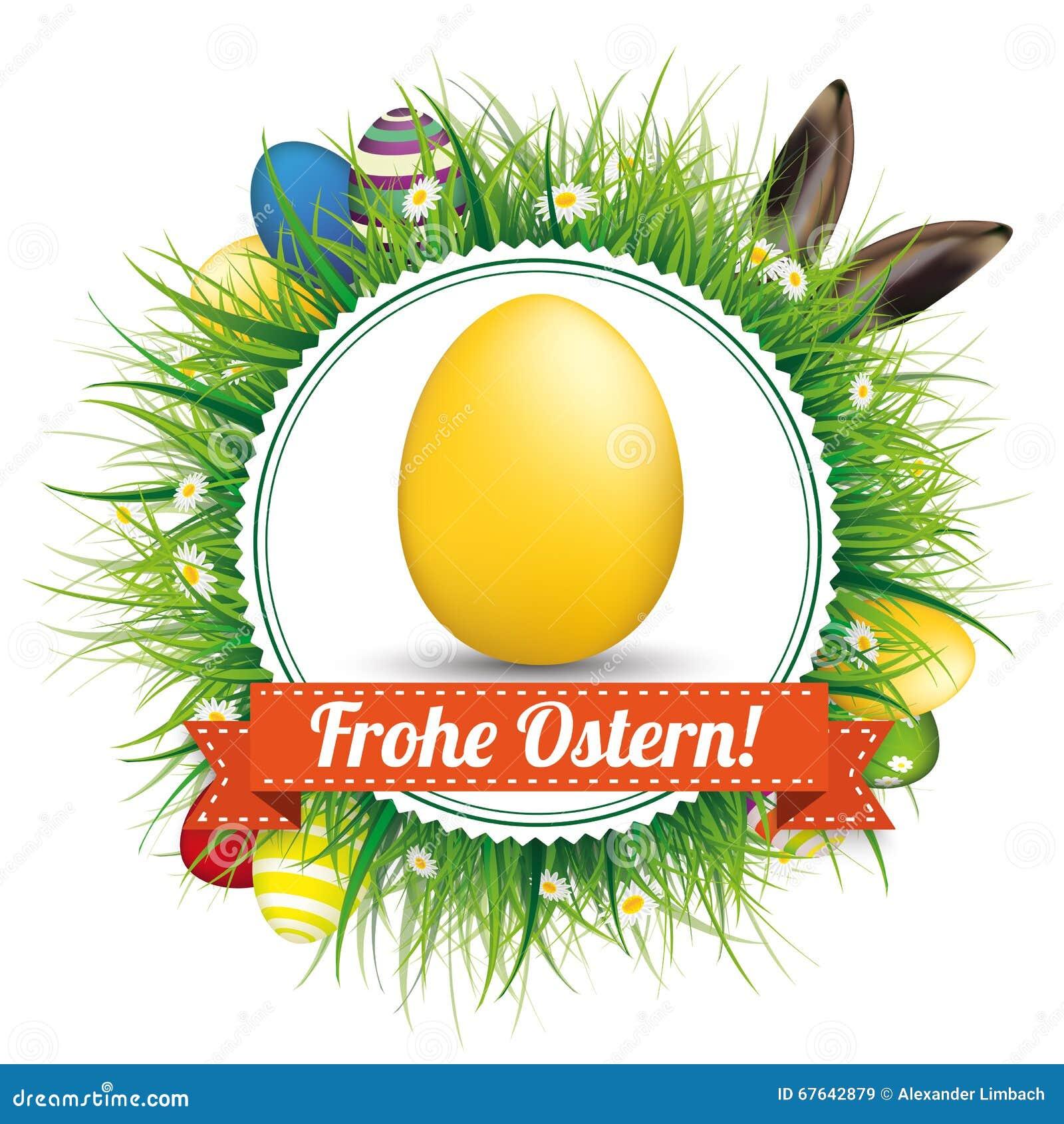 Frohe Ostern ärgert Hase-Ohr-Emblem Vektor Abbildung - Illustration ...