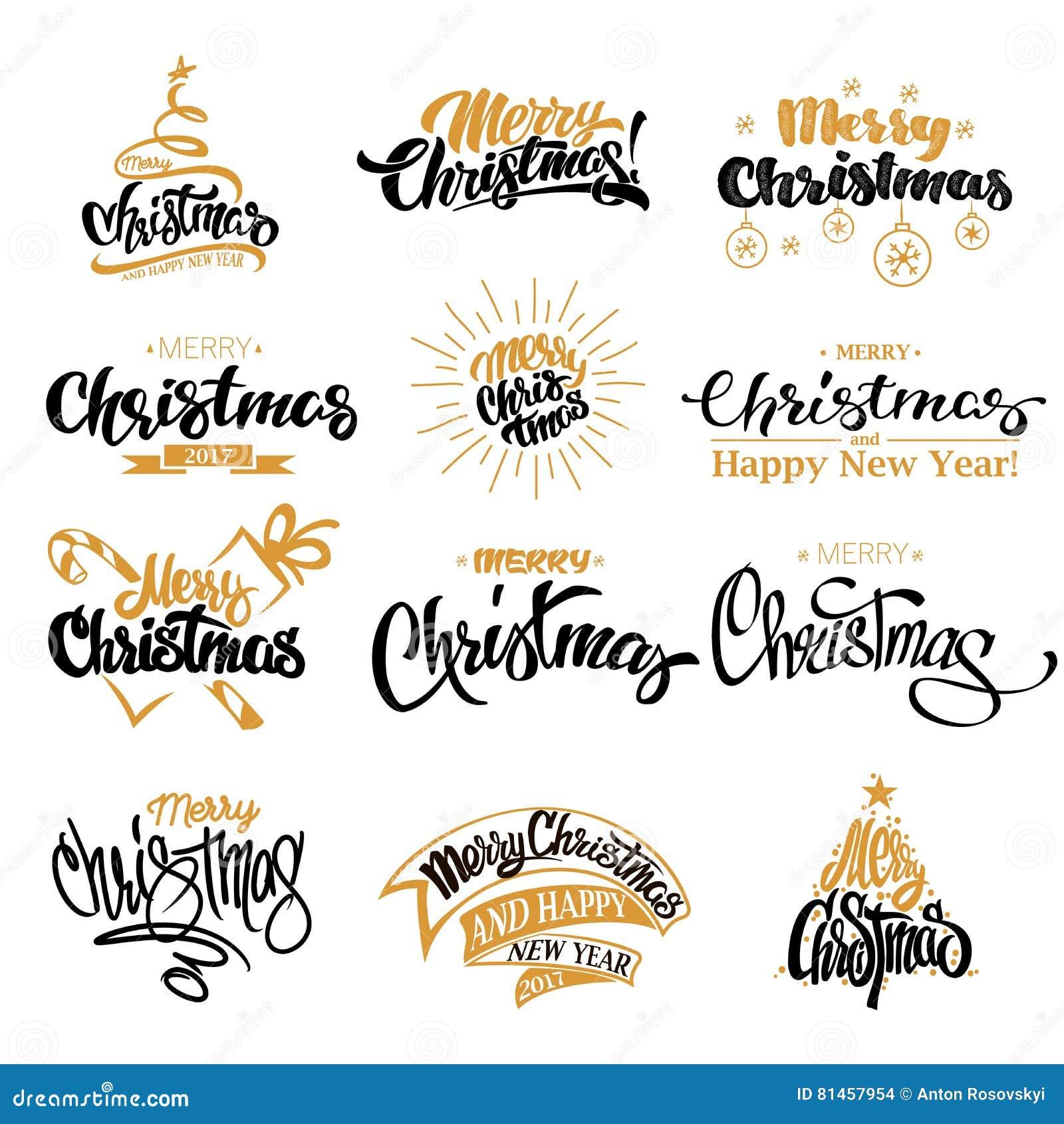Frohe Weihnacht-Briefgestaltungs-Satz
